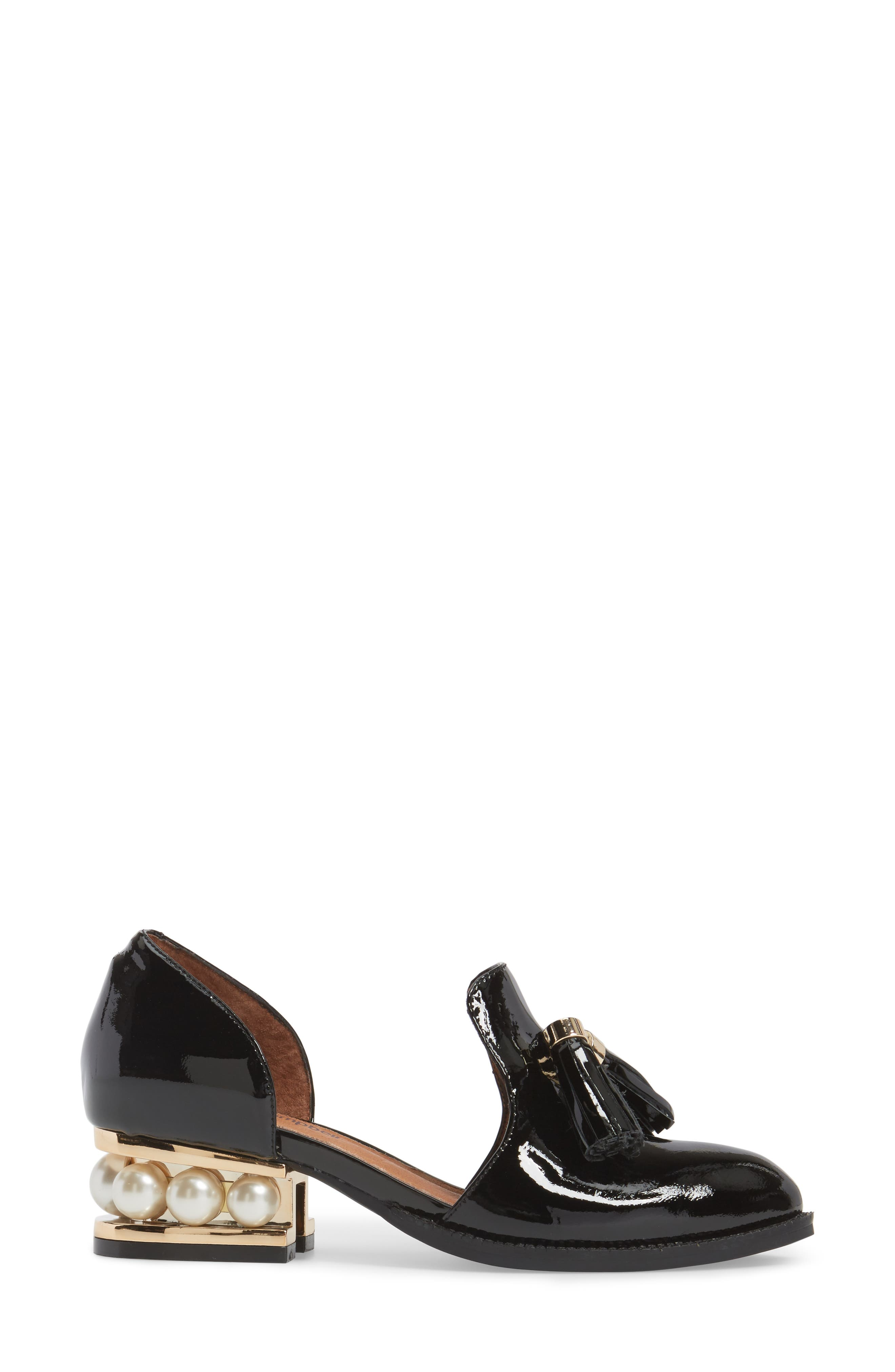 Alternate Image 3  - Jeffrey Campbell 'Civil' Pearly Heeled Beaded Tassel Loafer (Women)
