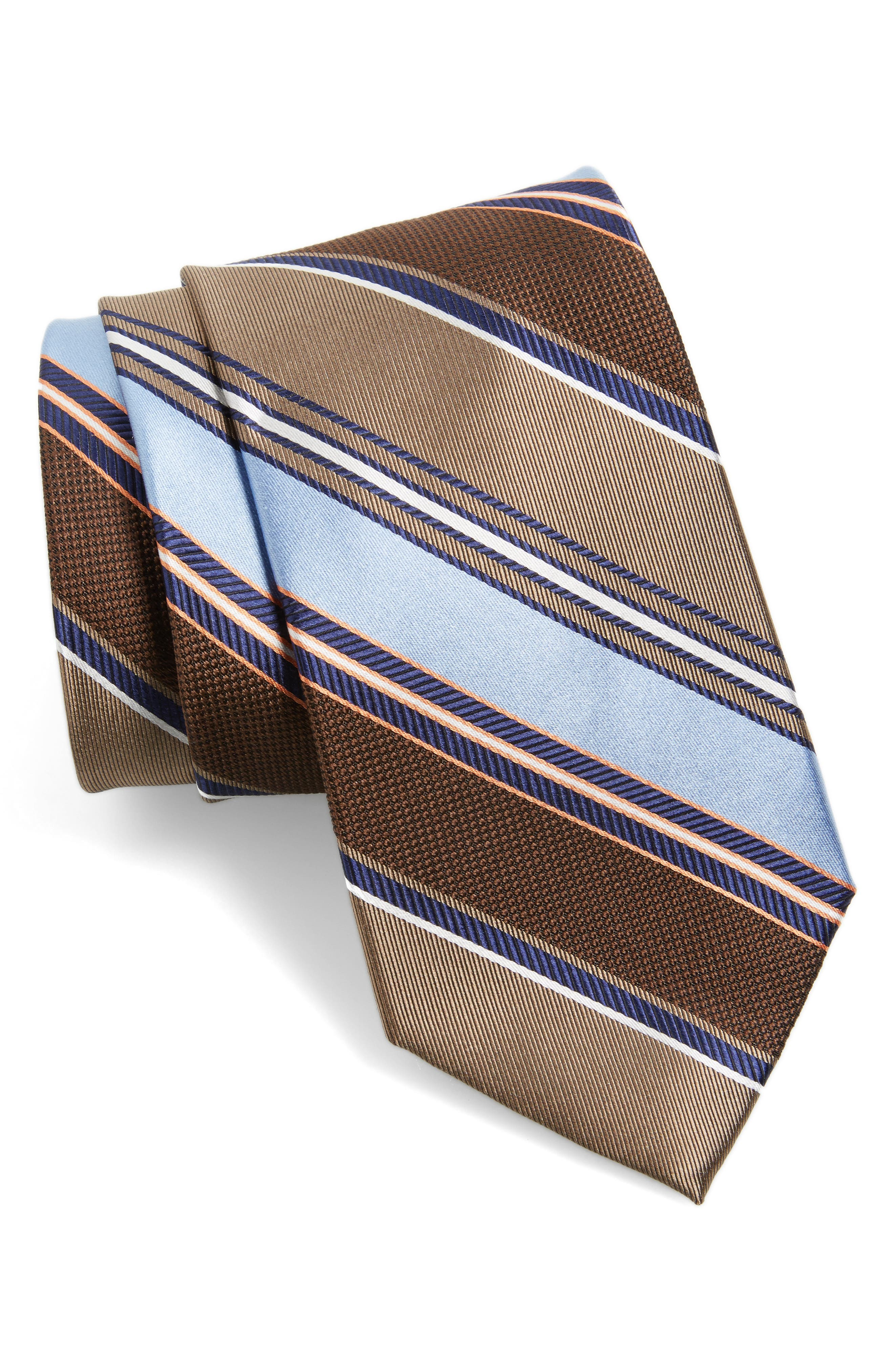 Nordstrom Men's Shop Regal Stripe Silk Tie (X-Long)