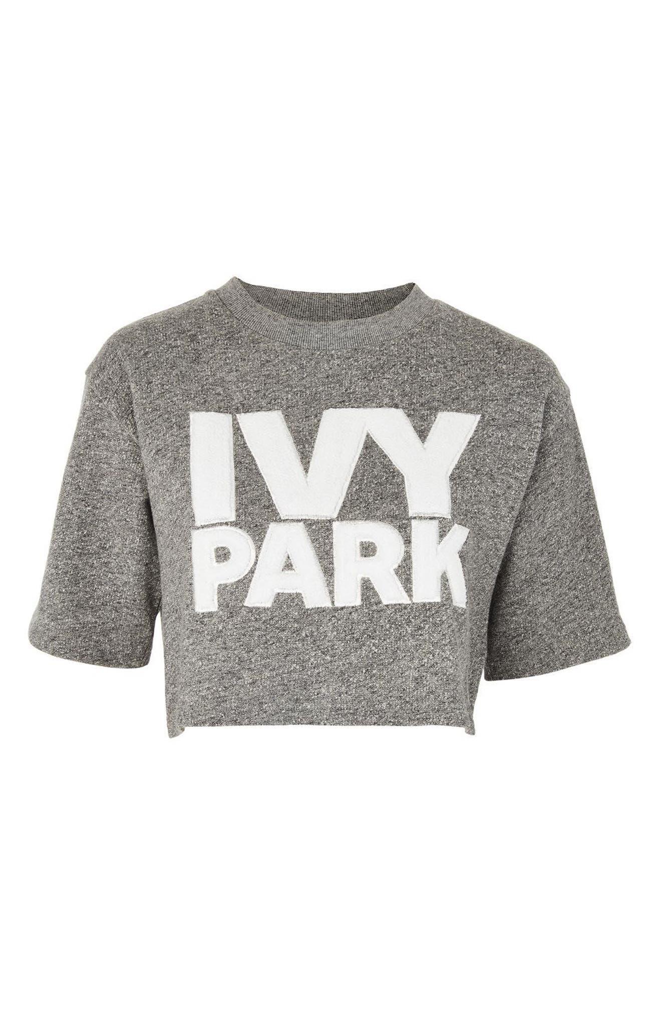 IVY PARK® Chenille Logo Wrap Crop Top