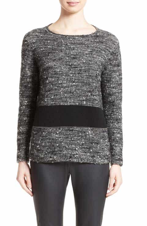 Fabiana Filippi Cashmere   Silk Blend Tweed Pullover