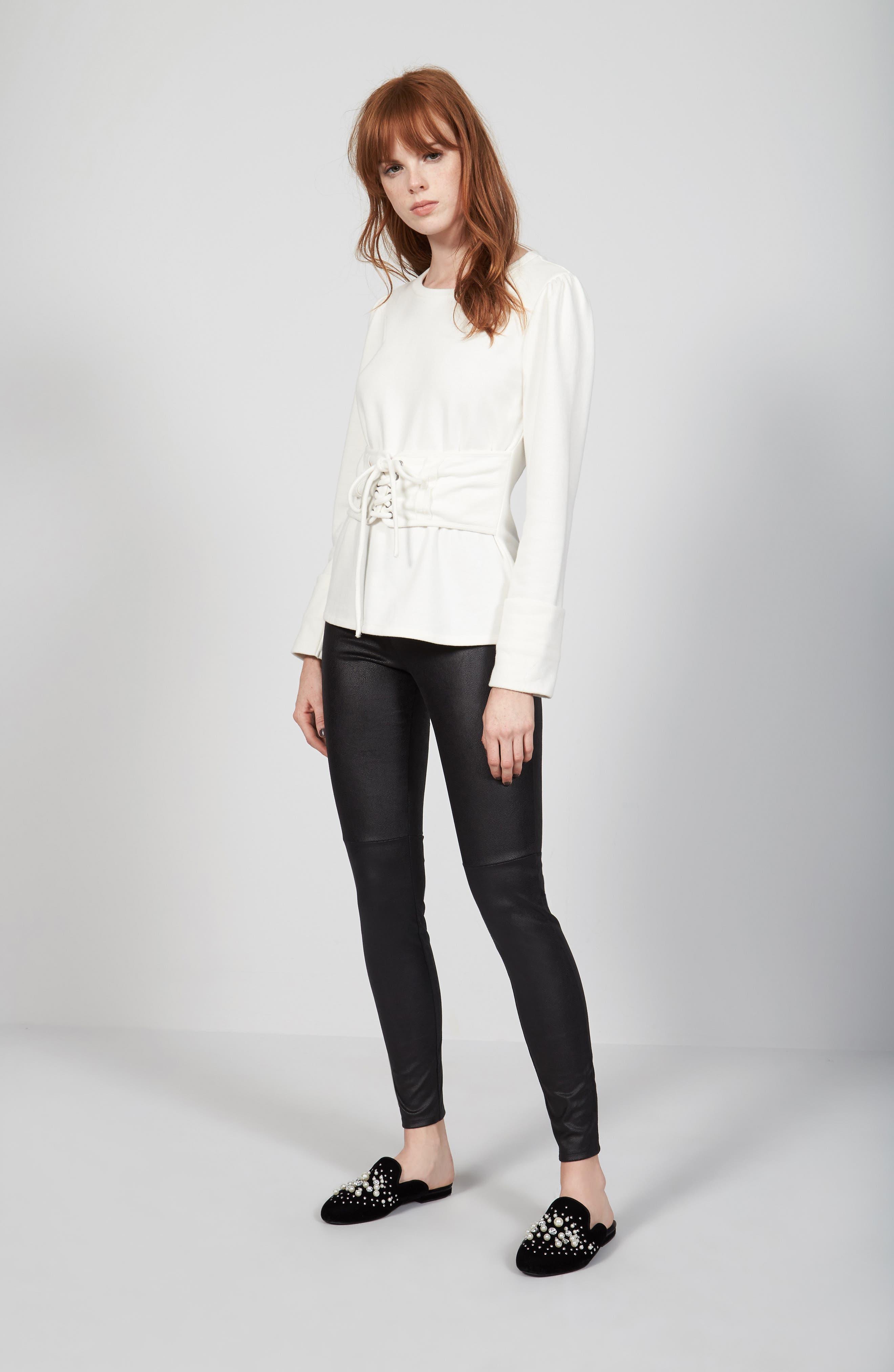 Alternate Image 2  - Trouvé Lace-Up Corset Sweatshirt