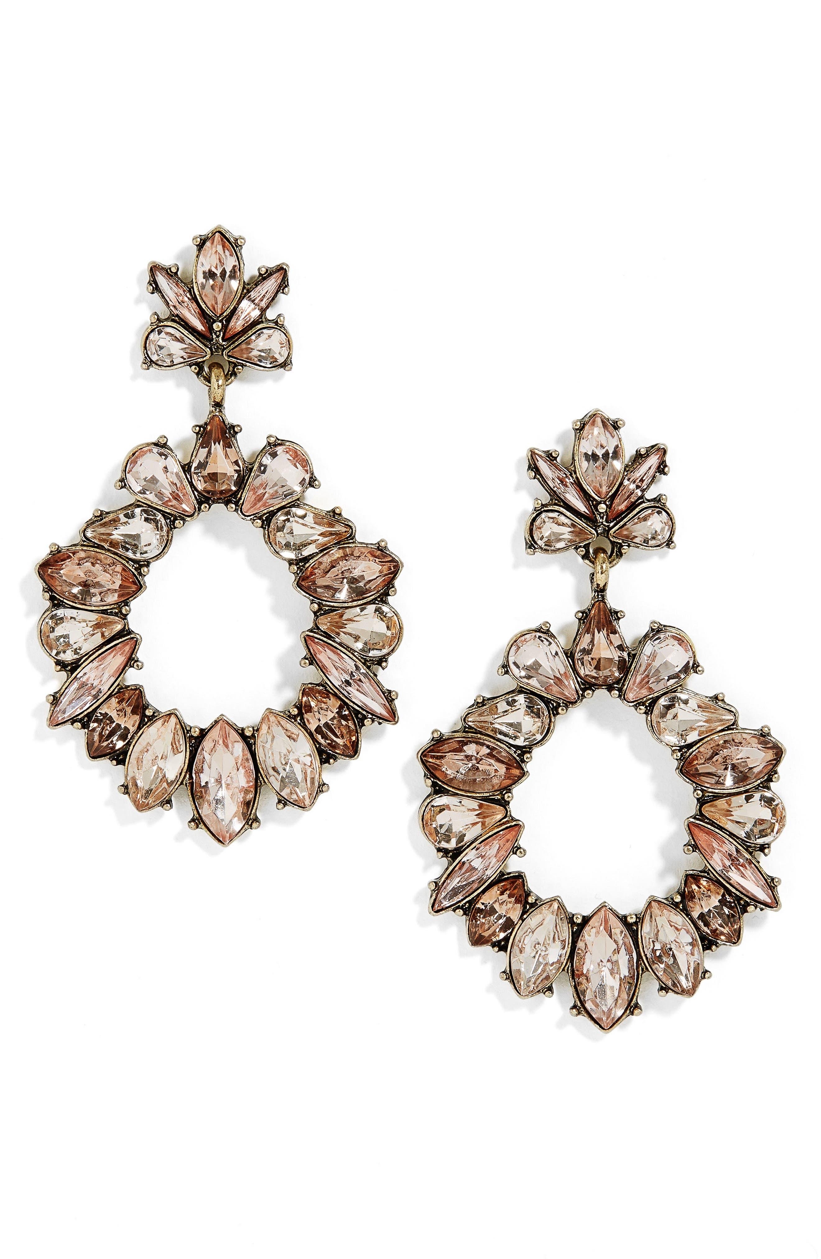 BaubleBar Horizon Crystal Drop Earrings