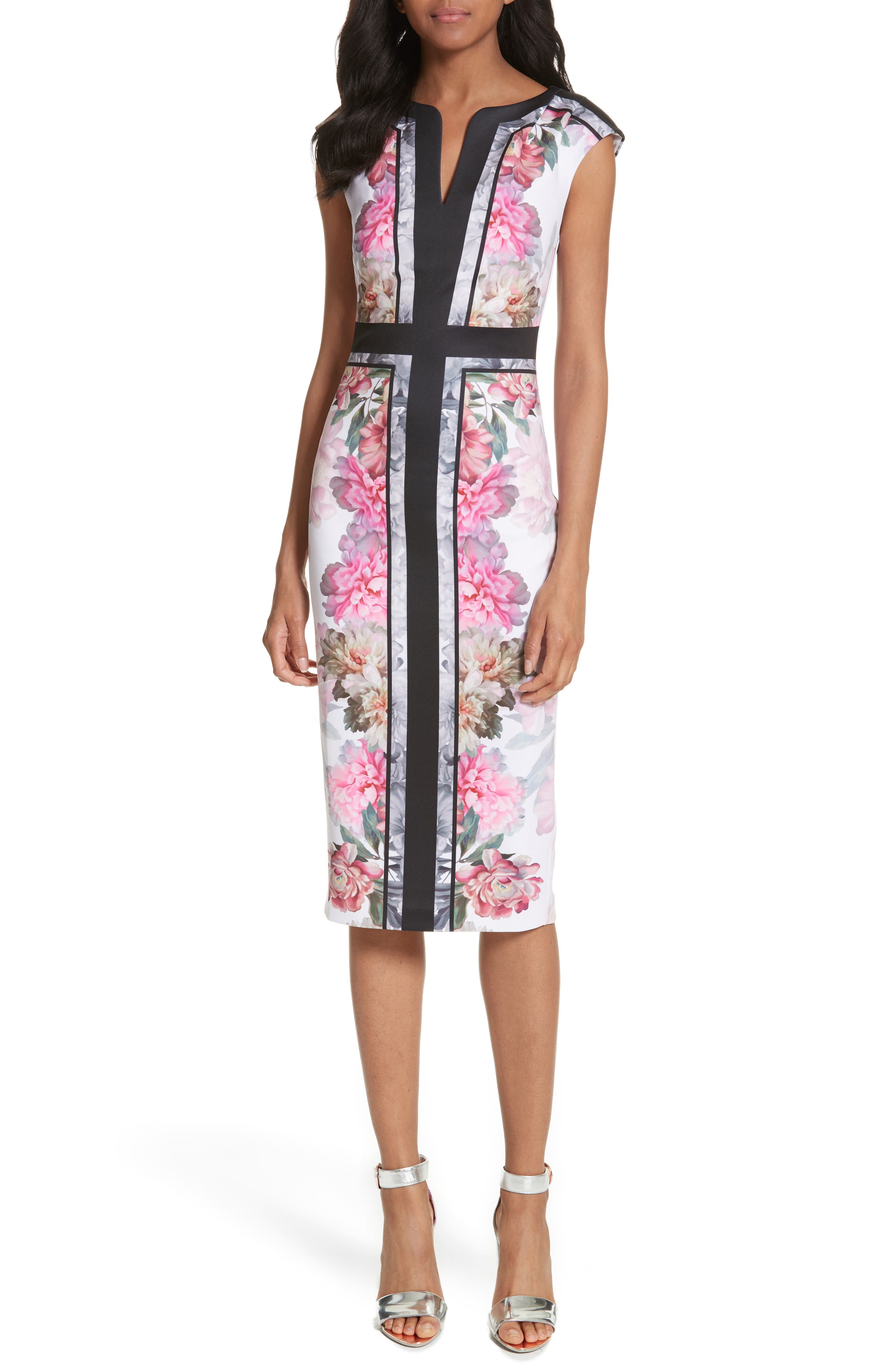 Ted Baker London Painted Posie Sheath Dress