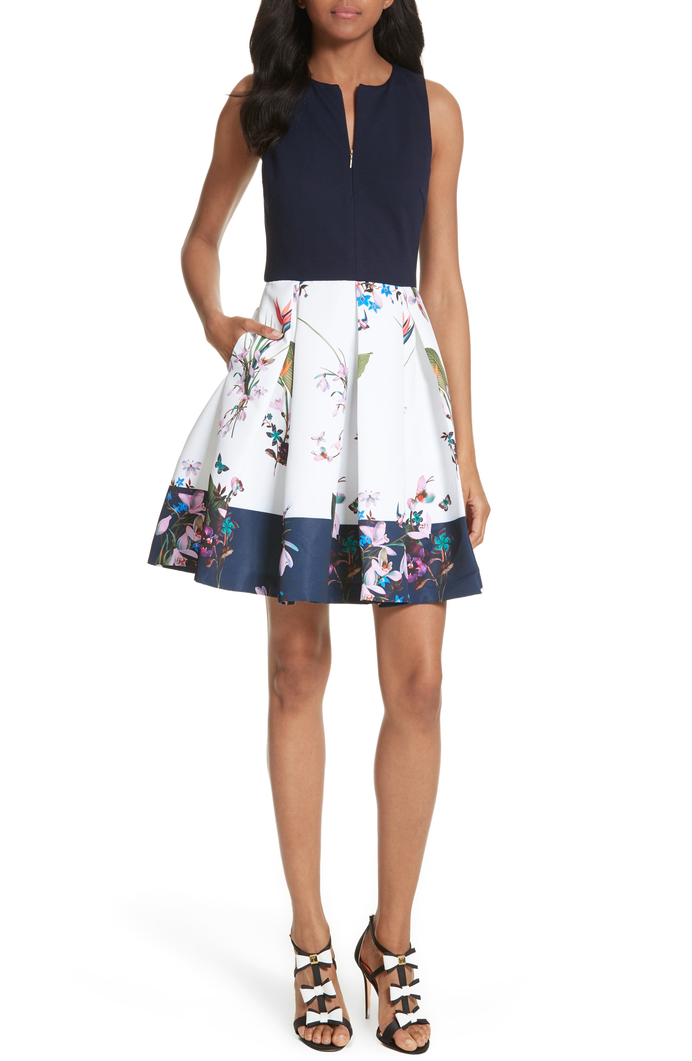 Ted Baker London Petali Tropical Oasis Print Dress