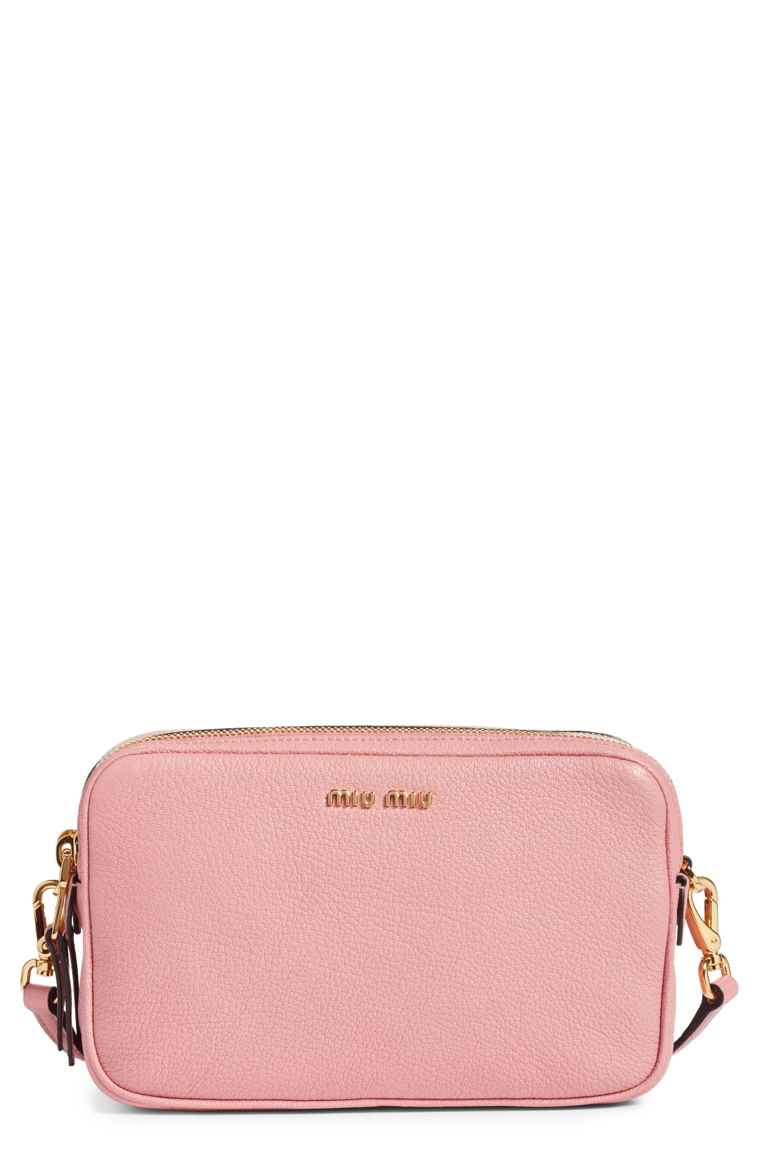 Miu Miu Madras Goatskin Leather Crossbody Bag