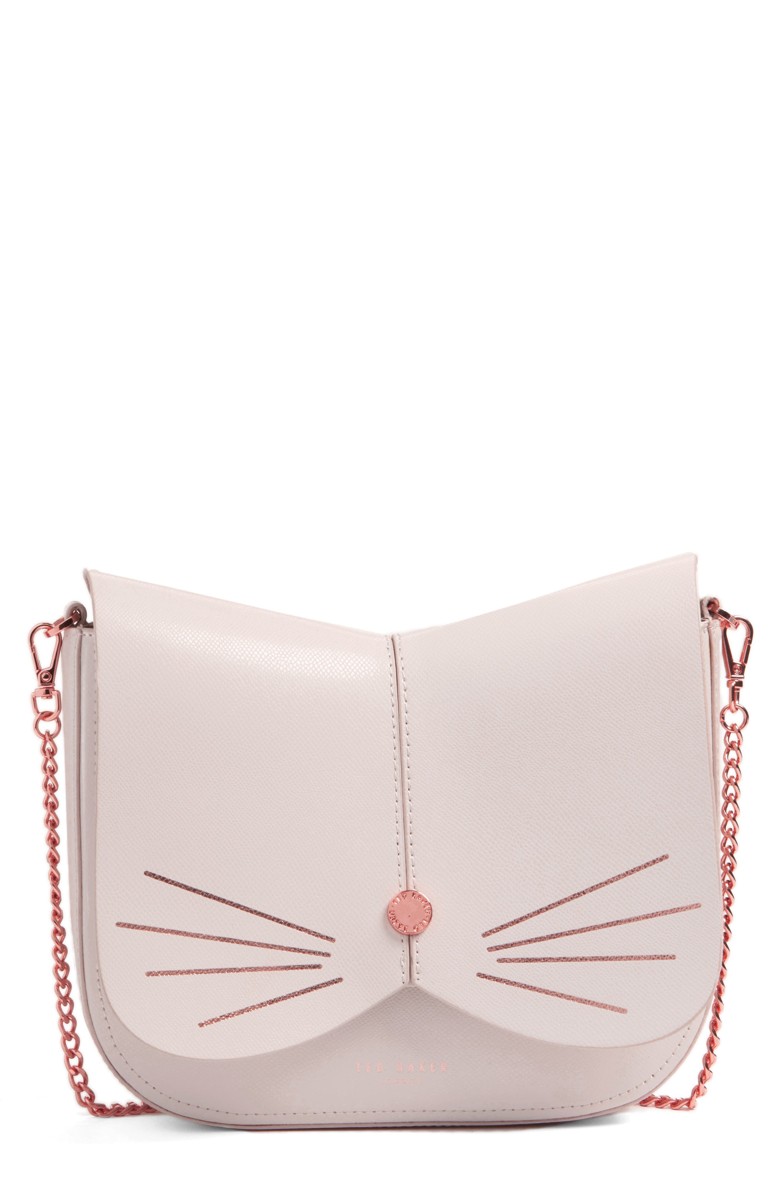 Ted Baker London Cat Leather Crossbody Bag