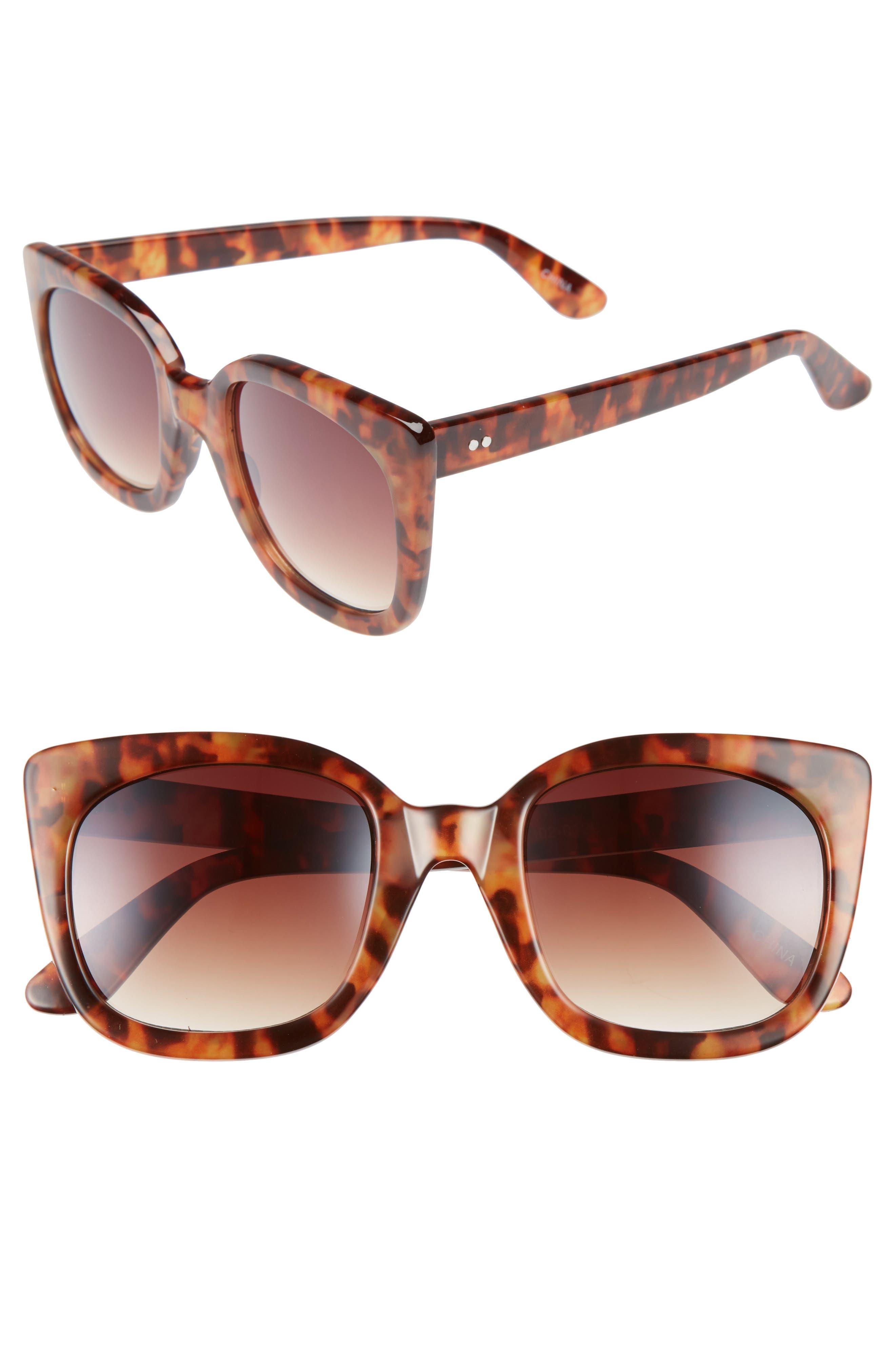 BP. 52mm Square Cat Eye Sunglasses