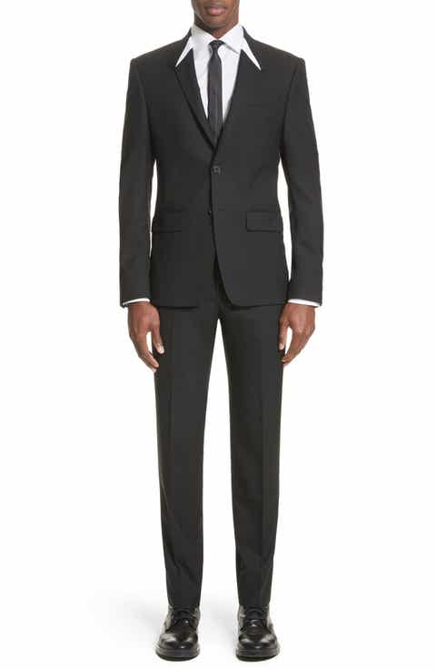Givenchy White Inset Madonna Collar Wool Suit