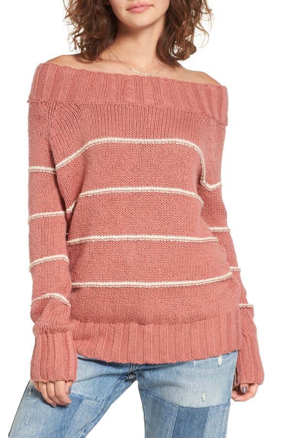 Main Image - Billabong Snuggle Down Off the Shoulder Sweater