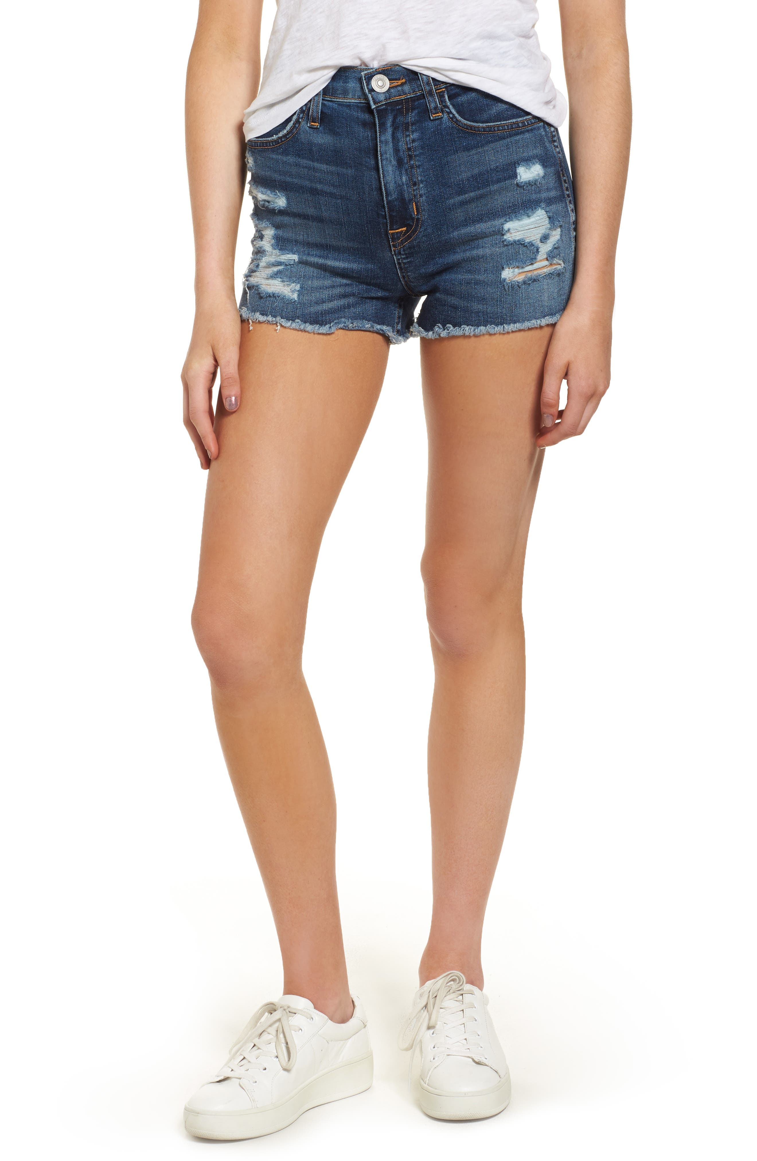 Hudson Jeans Soko High Rise Denim Cutoff Shorts (Legit)