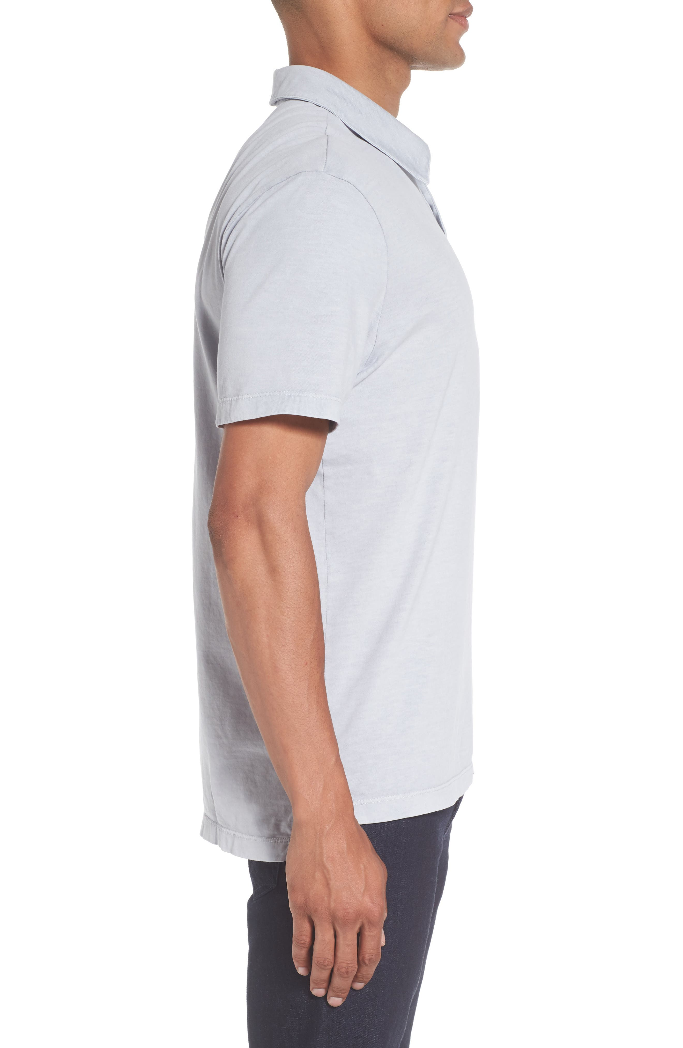 Alternate Image 3  - James Perse Slim Fit Sueded Jersey Polo