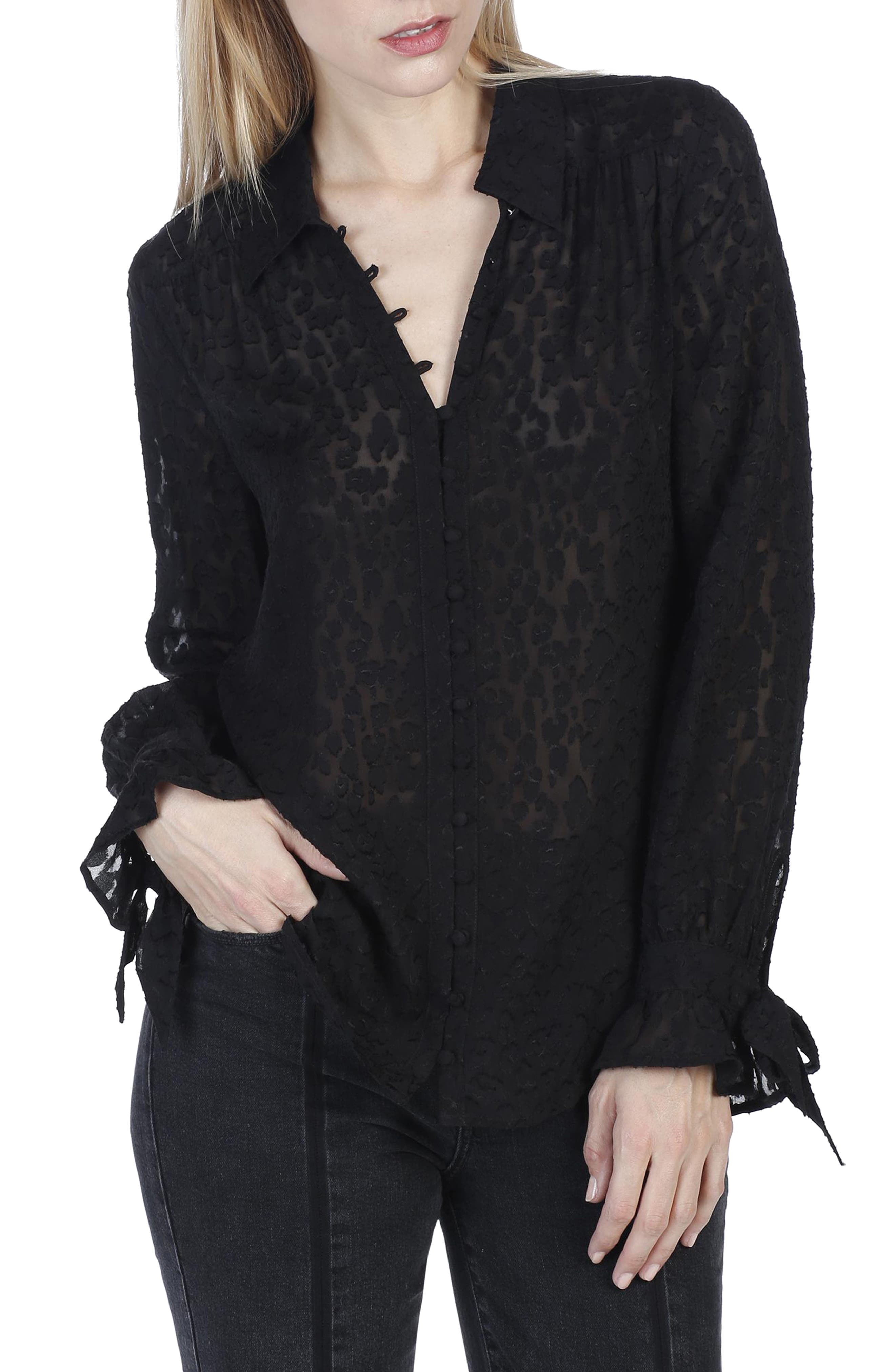 PAIGE Emberly Silk Blouse