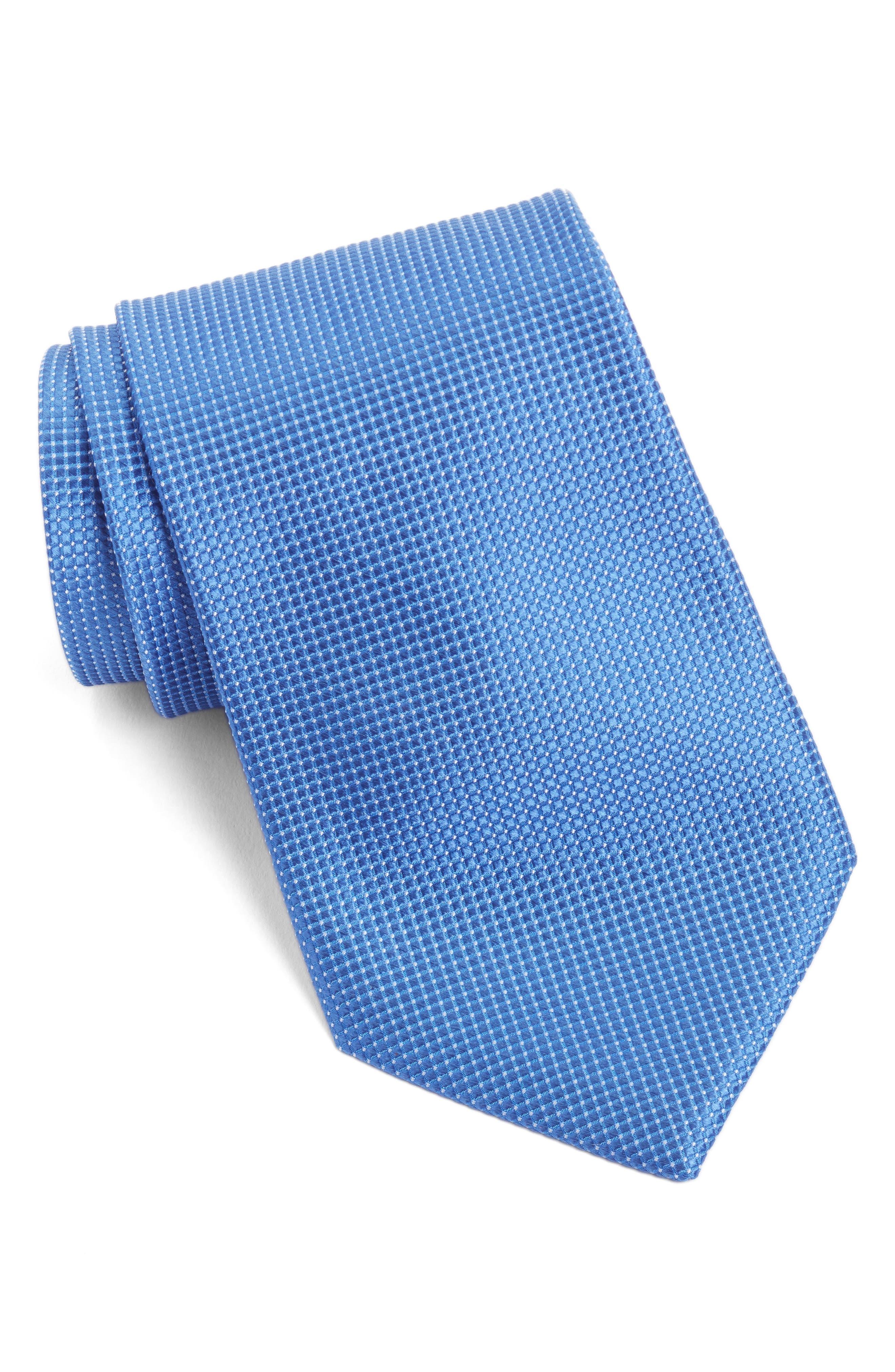 Nordstrom Men's Shop Pin Dot Silk Tie (X-Long)