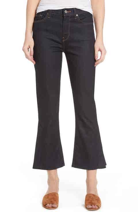 7 For All Mankind® Ali Split Hem Crop Flare Jeans
