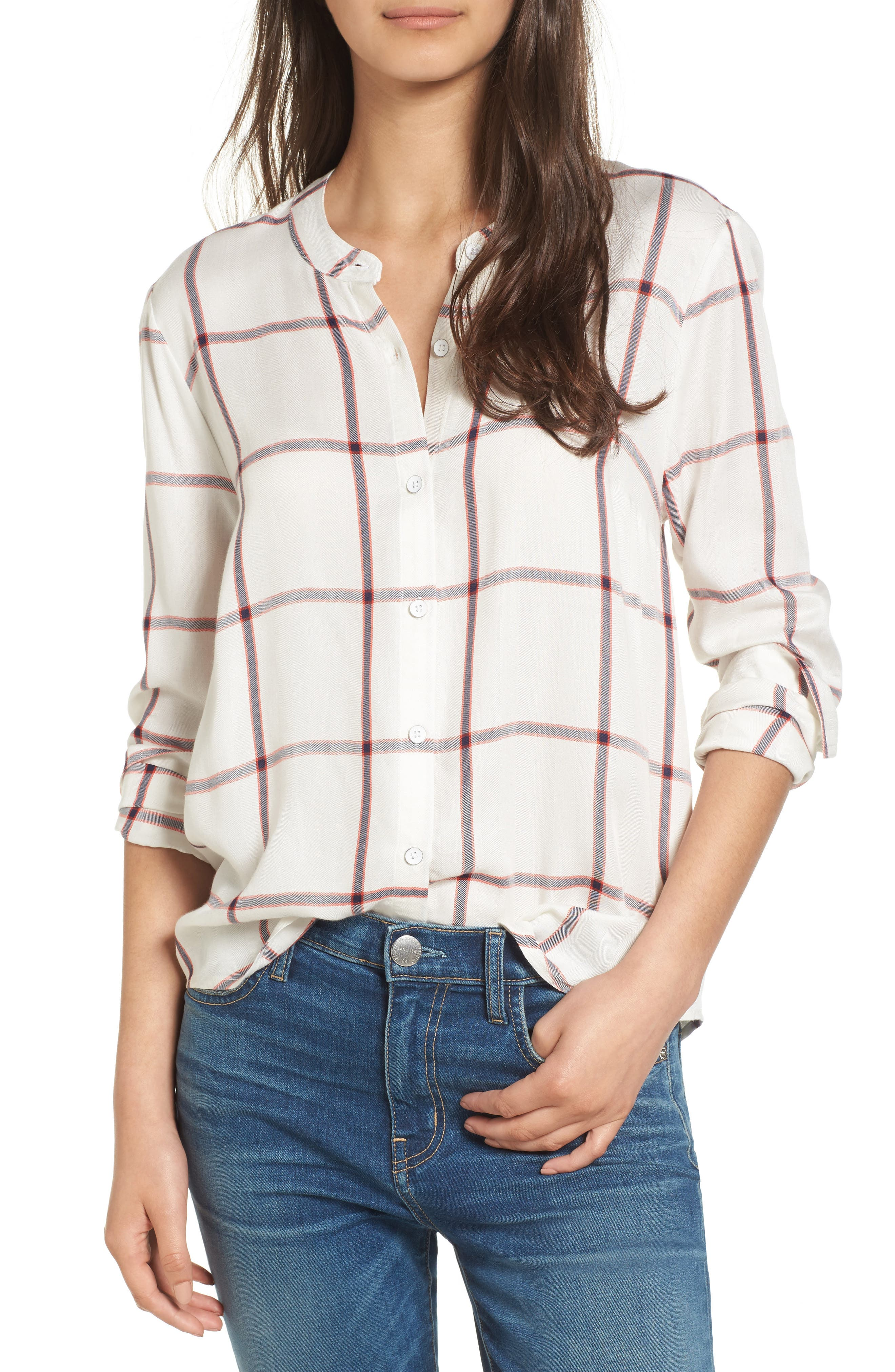 Splendid Reily Plaid Blouse