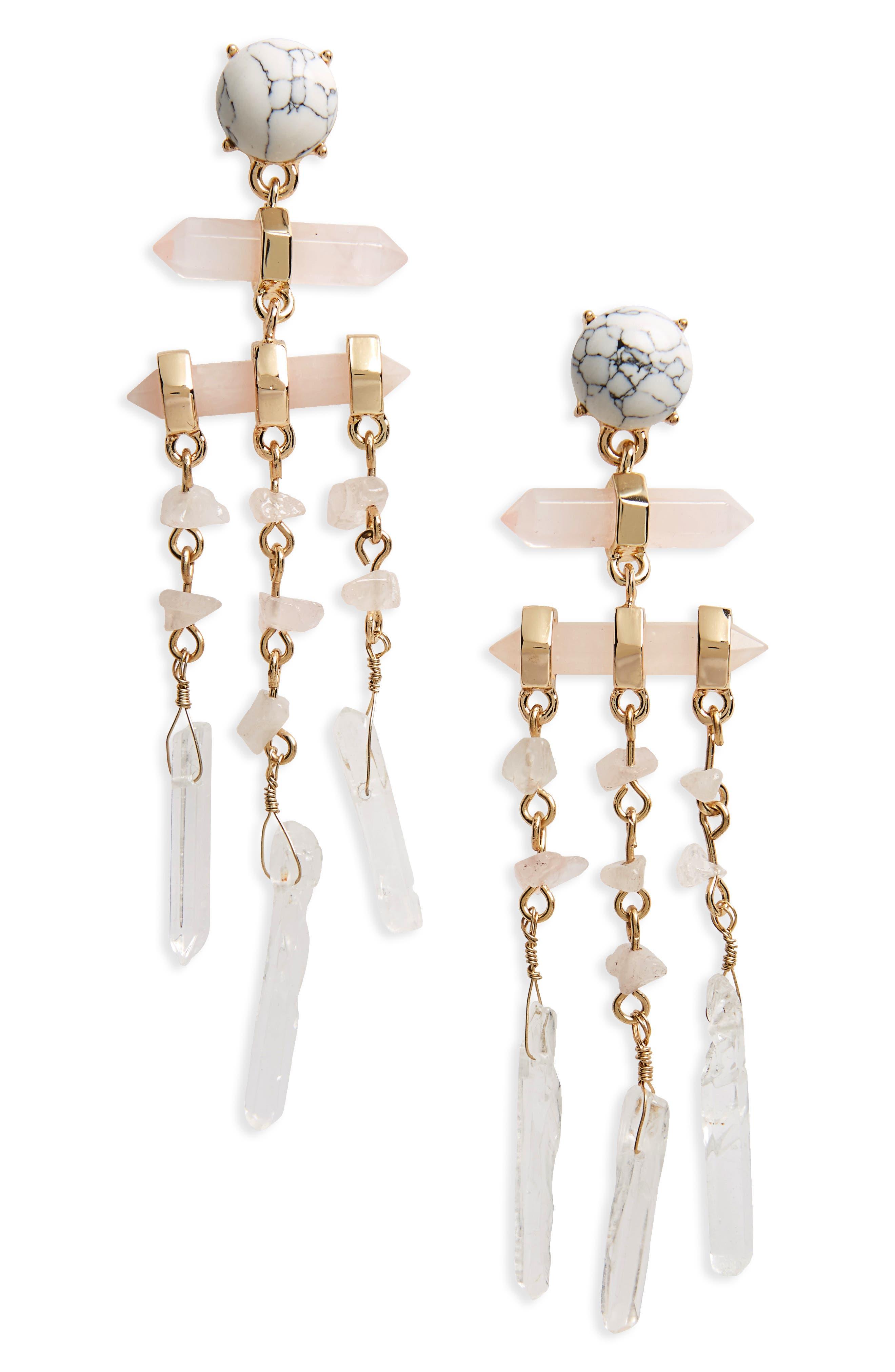 BaubleBar Ava Stone Drop Earrings