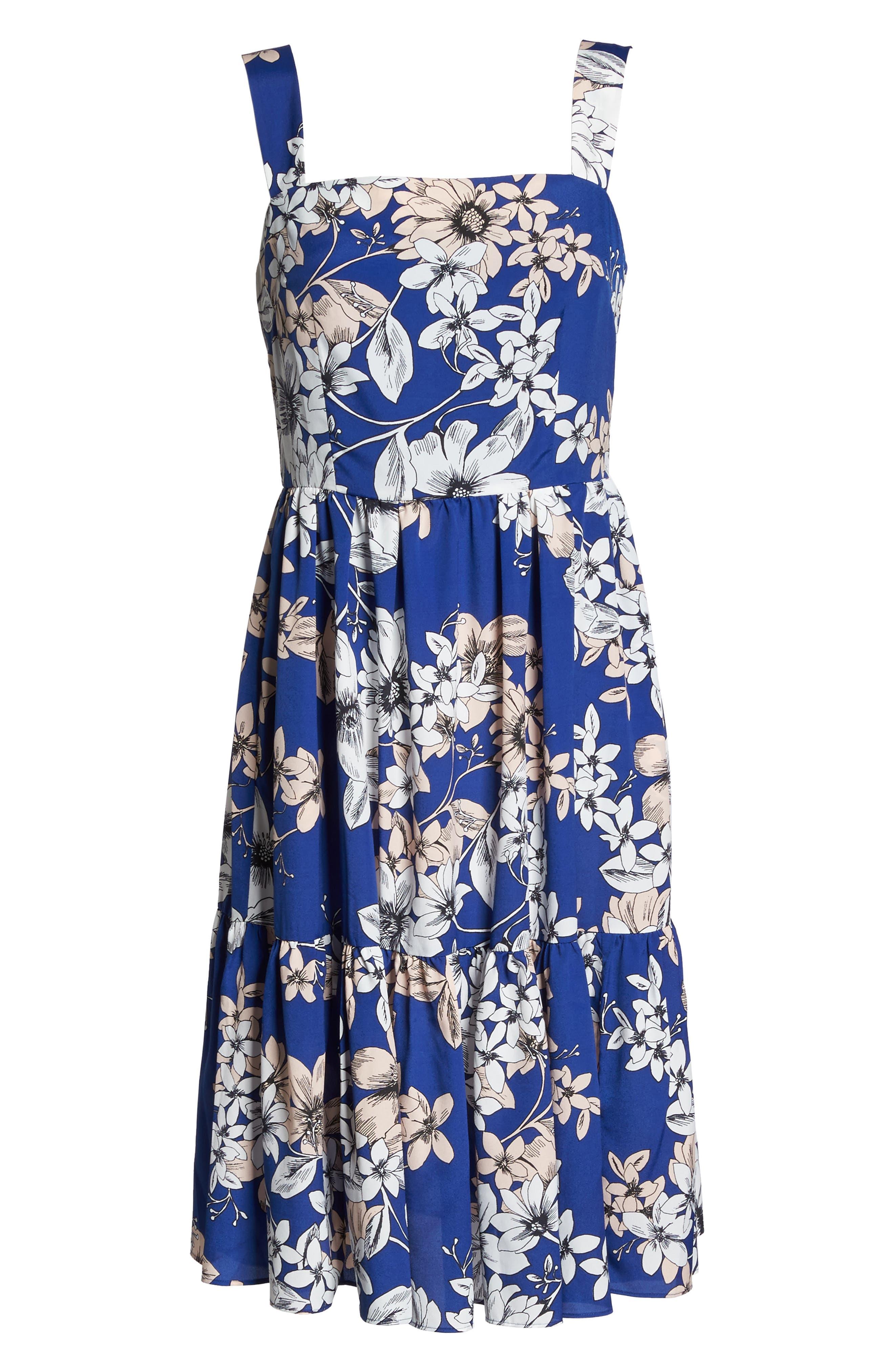Alternate Image 6  - Eliza J Floral Print Fit & Flare Dress
