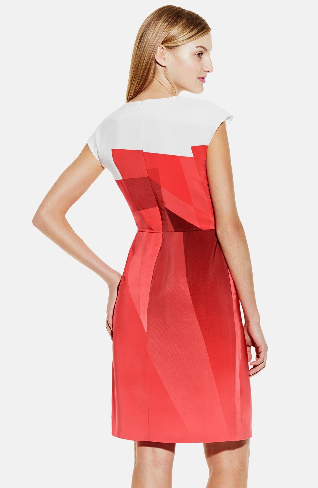 Alternate Image 2  - Vince Camuto Contrast Yoke Ombré Print Sheath Dress (Regular & Petite)