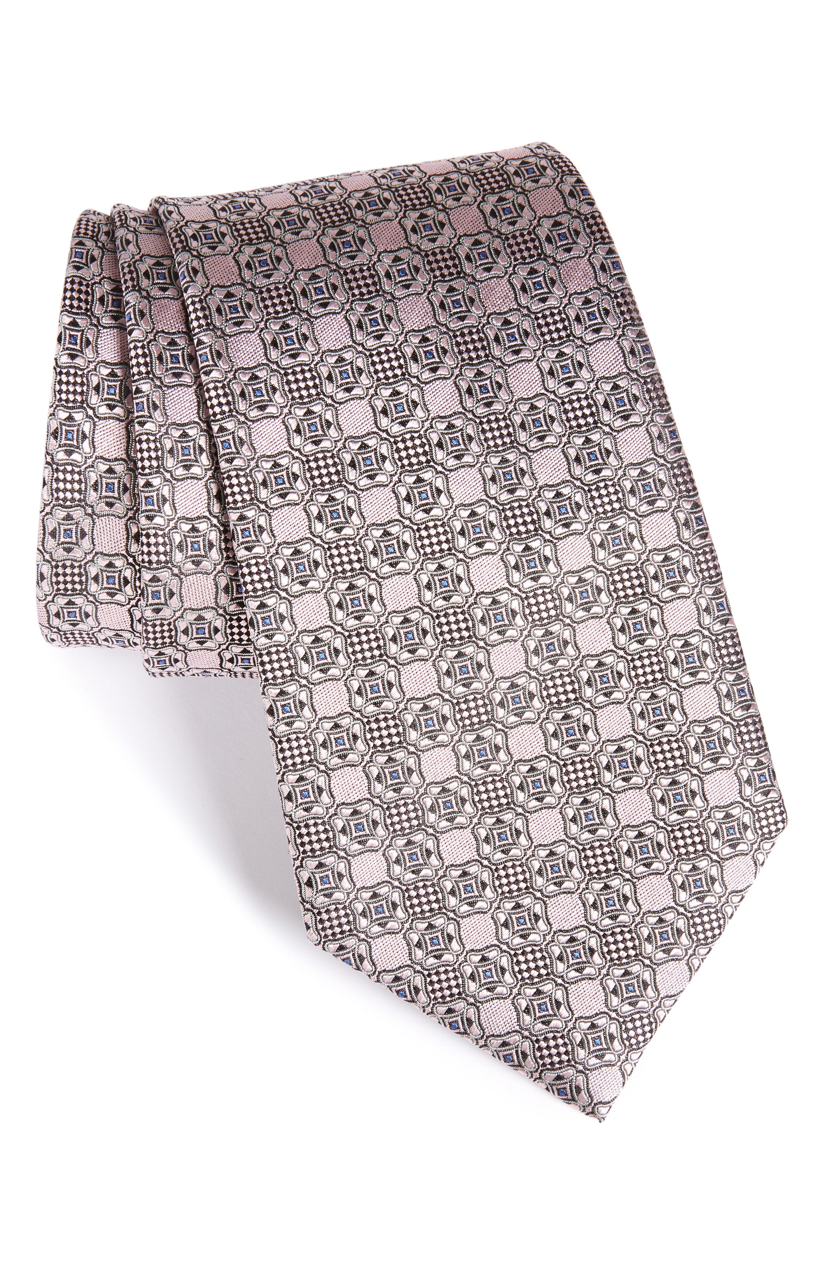 Ermenegildo Zegna Geometric Silk Tie