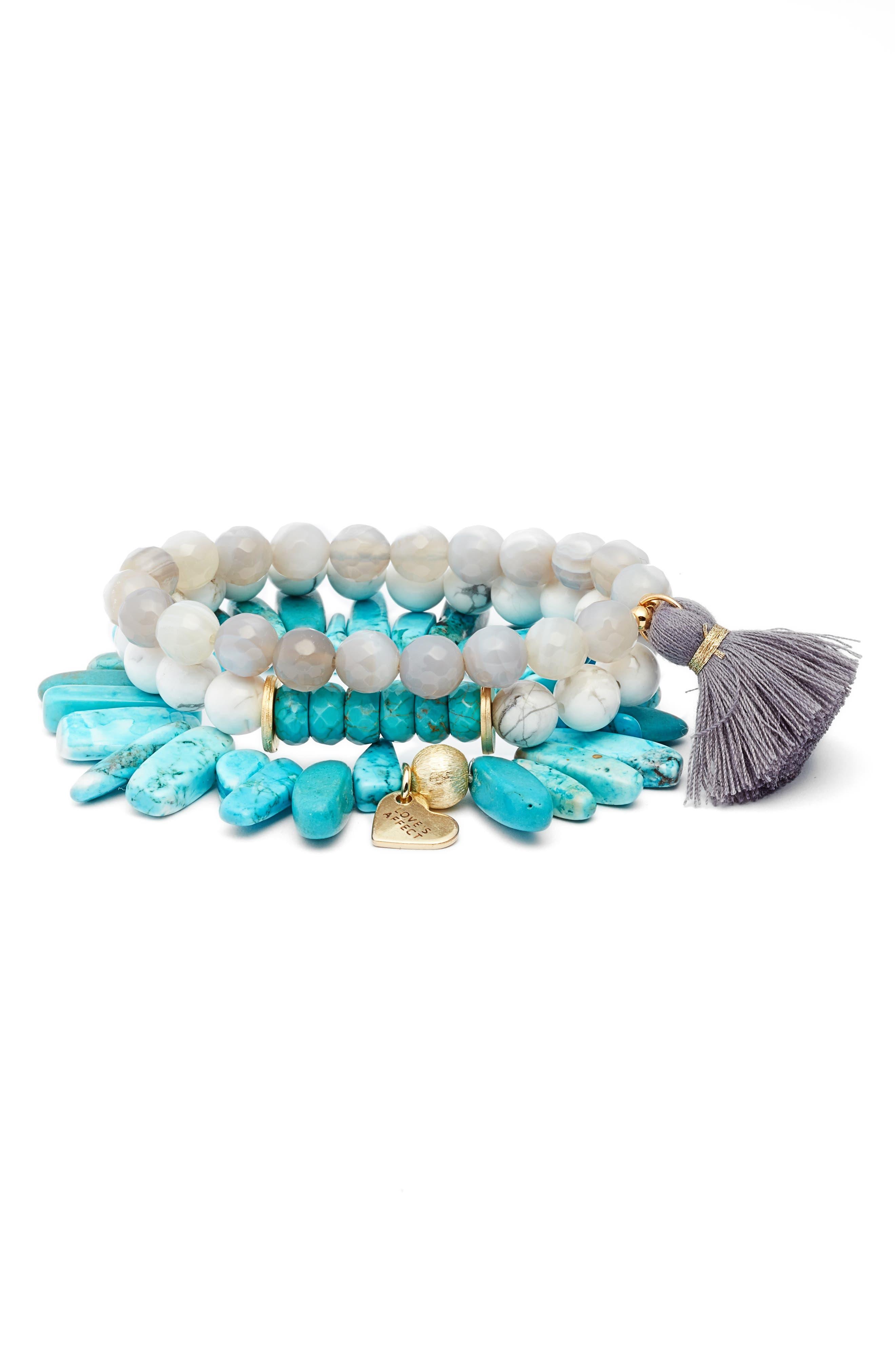 Love's Affect Set of 3 Stretch Bracelets