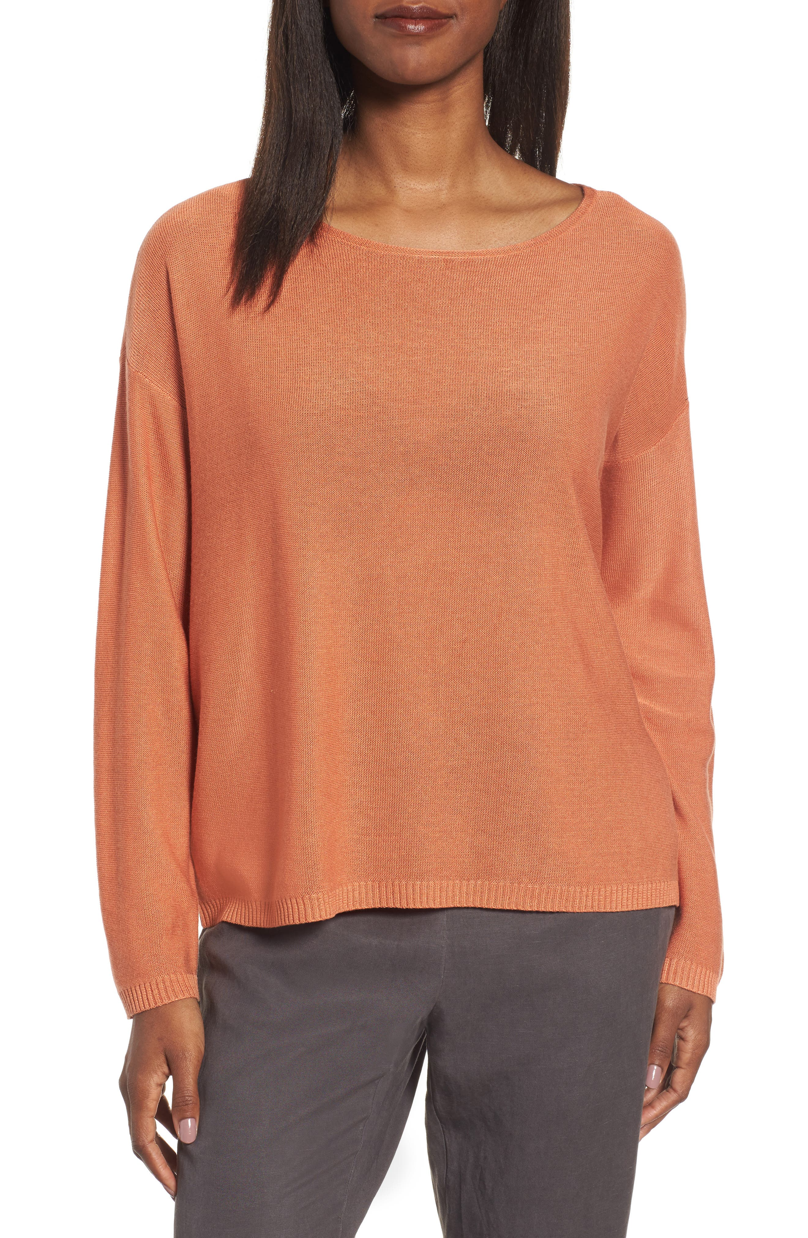 Eileen Fisher Tencel® & Wool Boxy Sweater