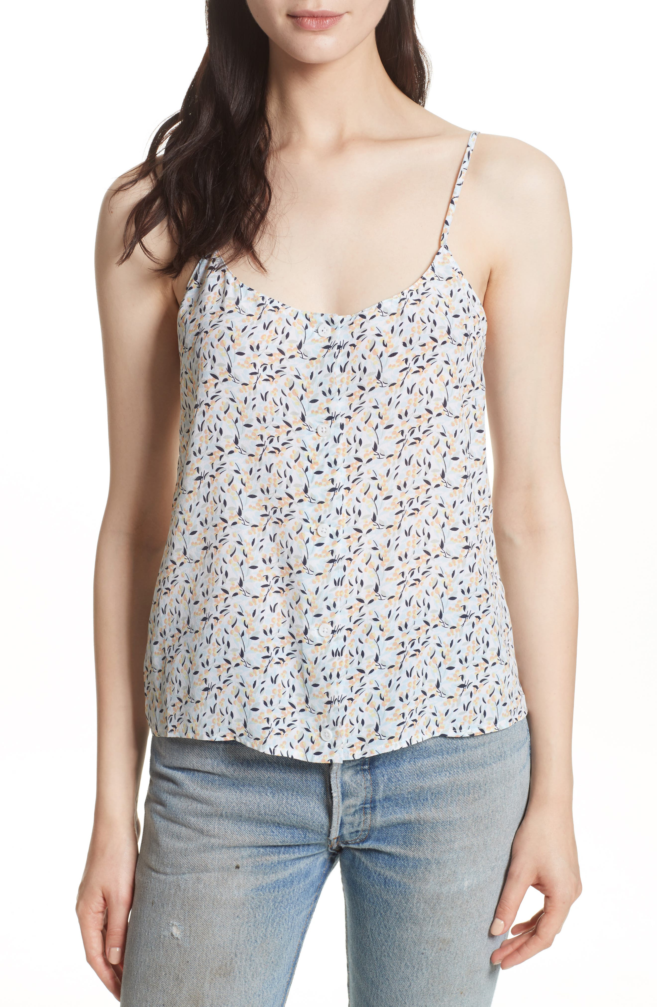 Equipment Perrin Print Silk Camisole
