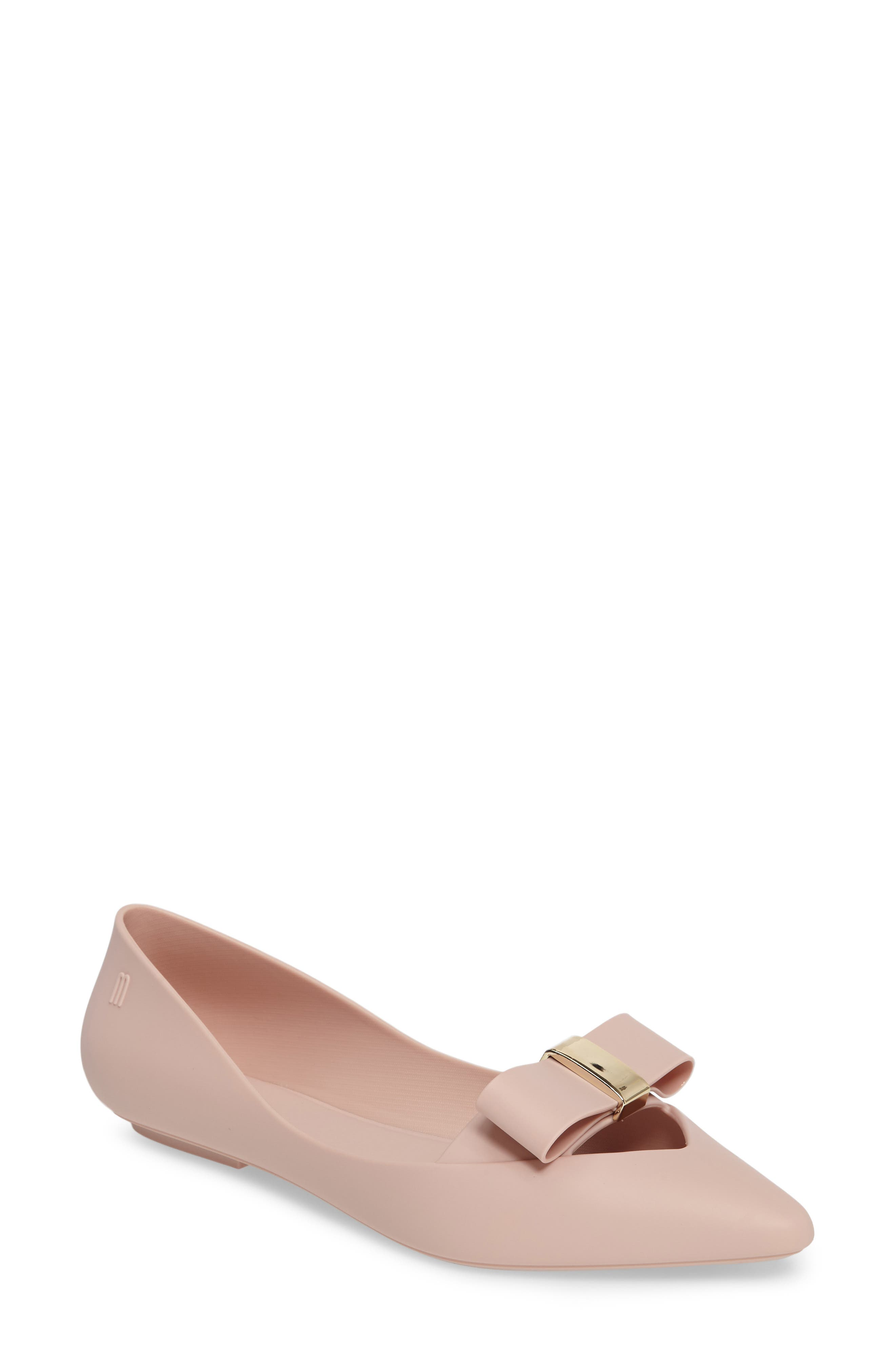 Melissa Maisie II Bow Pointy Toe Flat (Women)