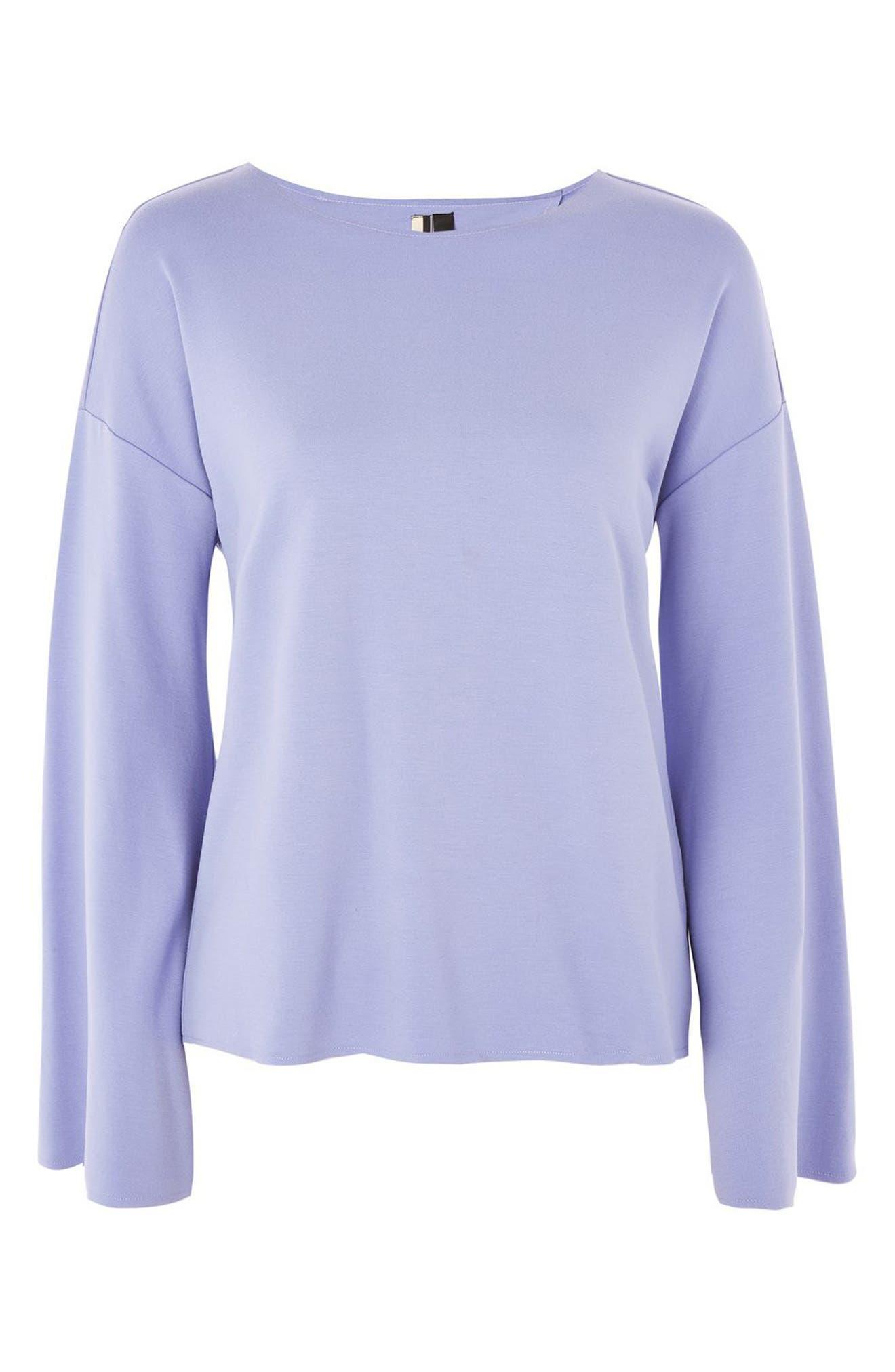Alternate Image 3  - Topshop Split Back Bell Sleeve Sweatshirt