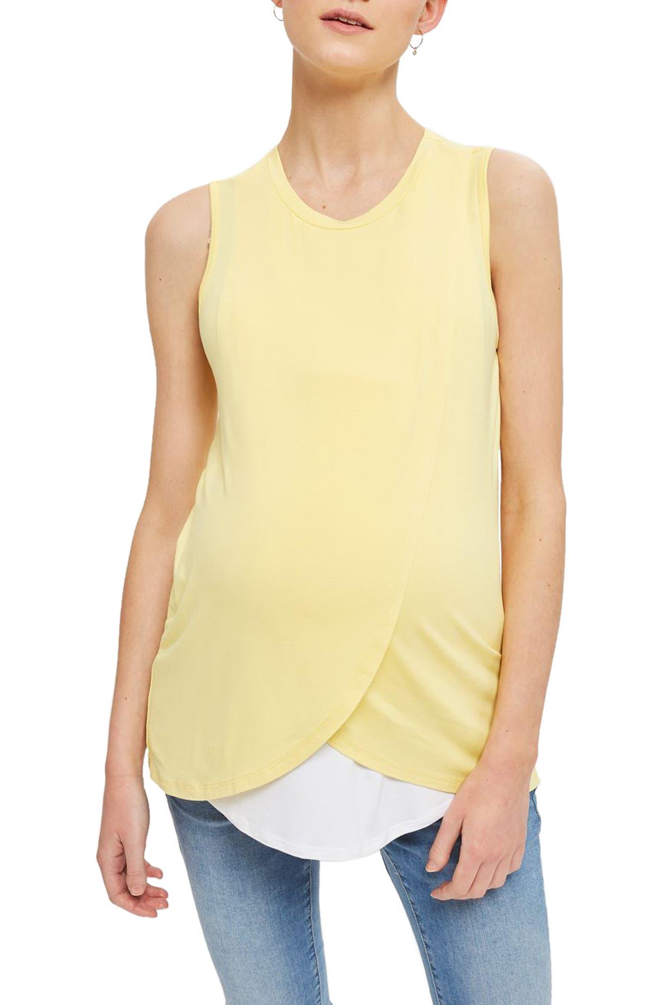 Topshop Drape Maternity/Nursing Tank