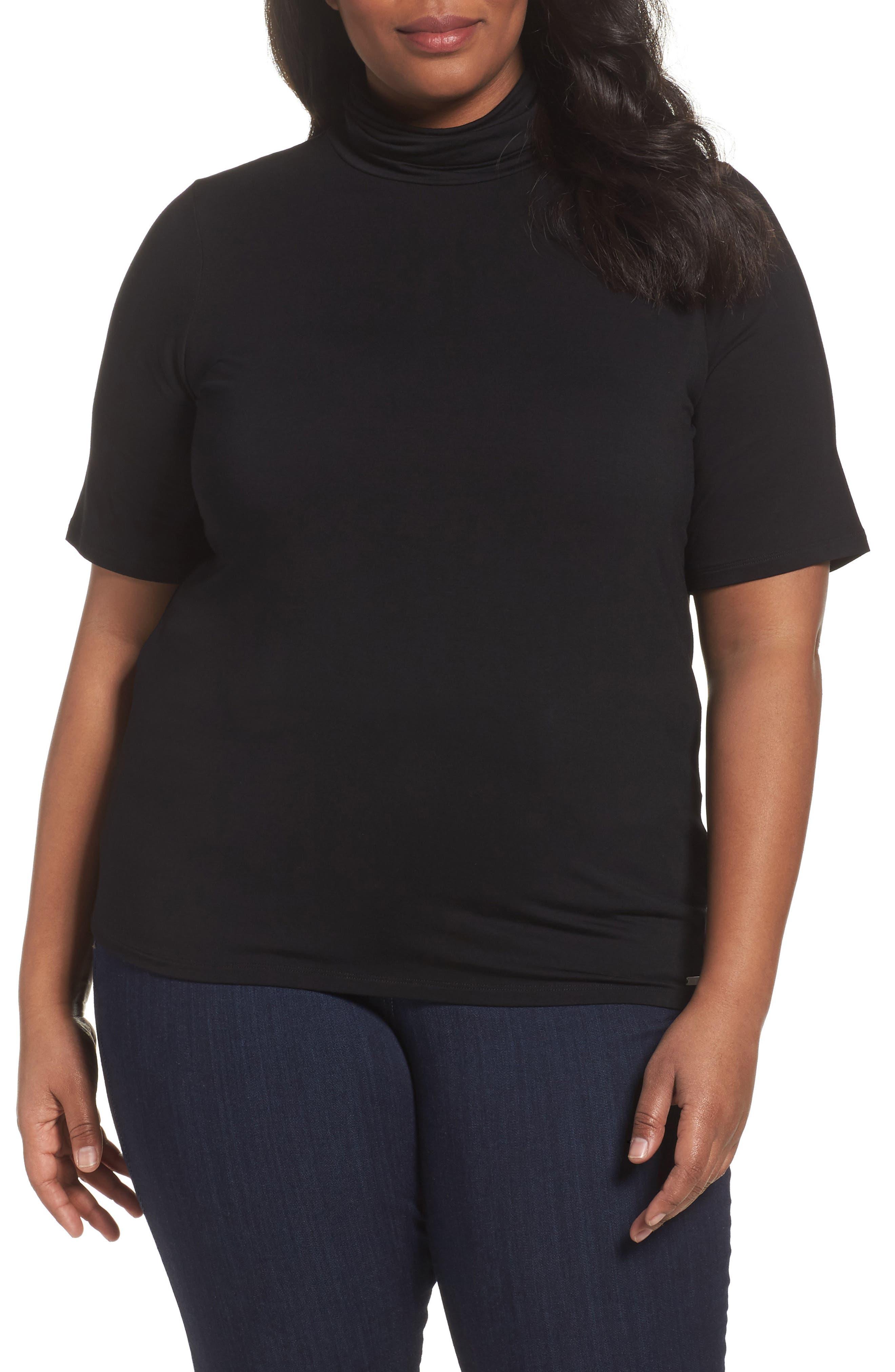 MICHAEL Michael Kors Mock Neck Top (Plus Size)