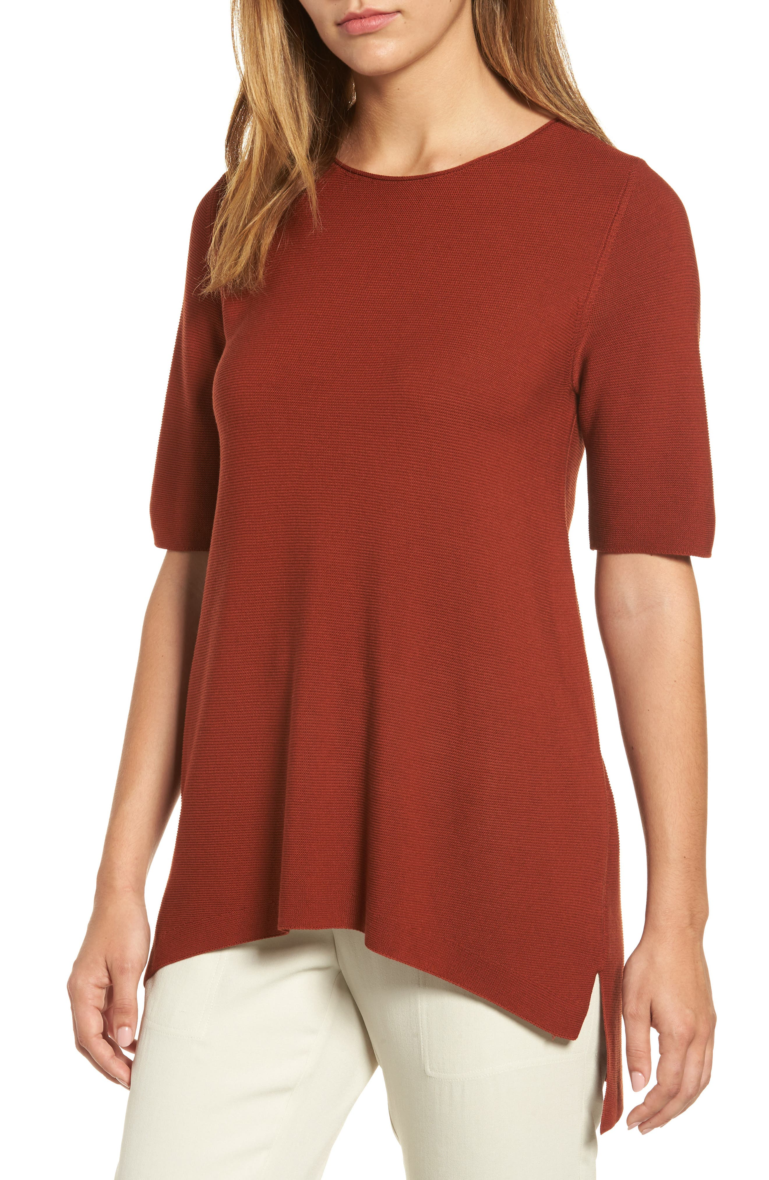 Eileen Fisher Tencel® Knit Top (Regular & Petite)