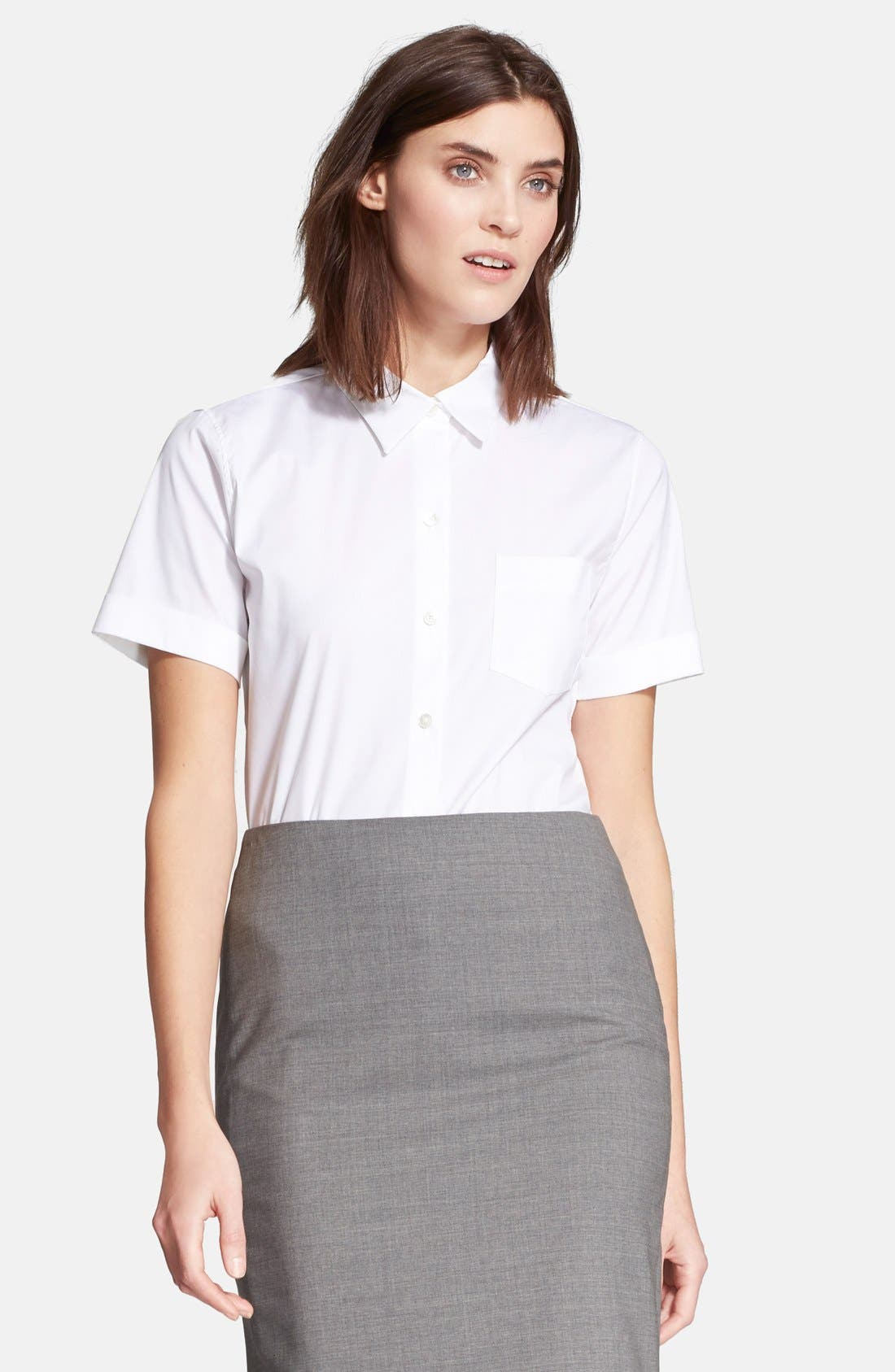 Main Image - Theory 'Uniform' Short Sleeve Blouse