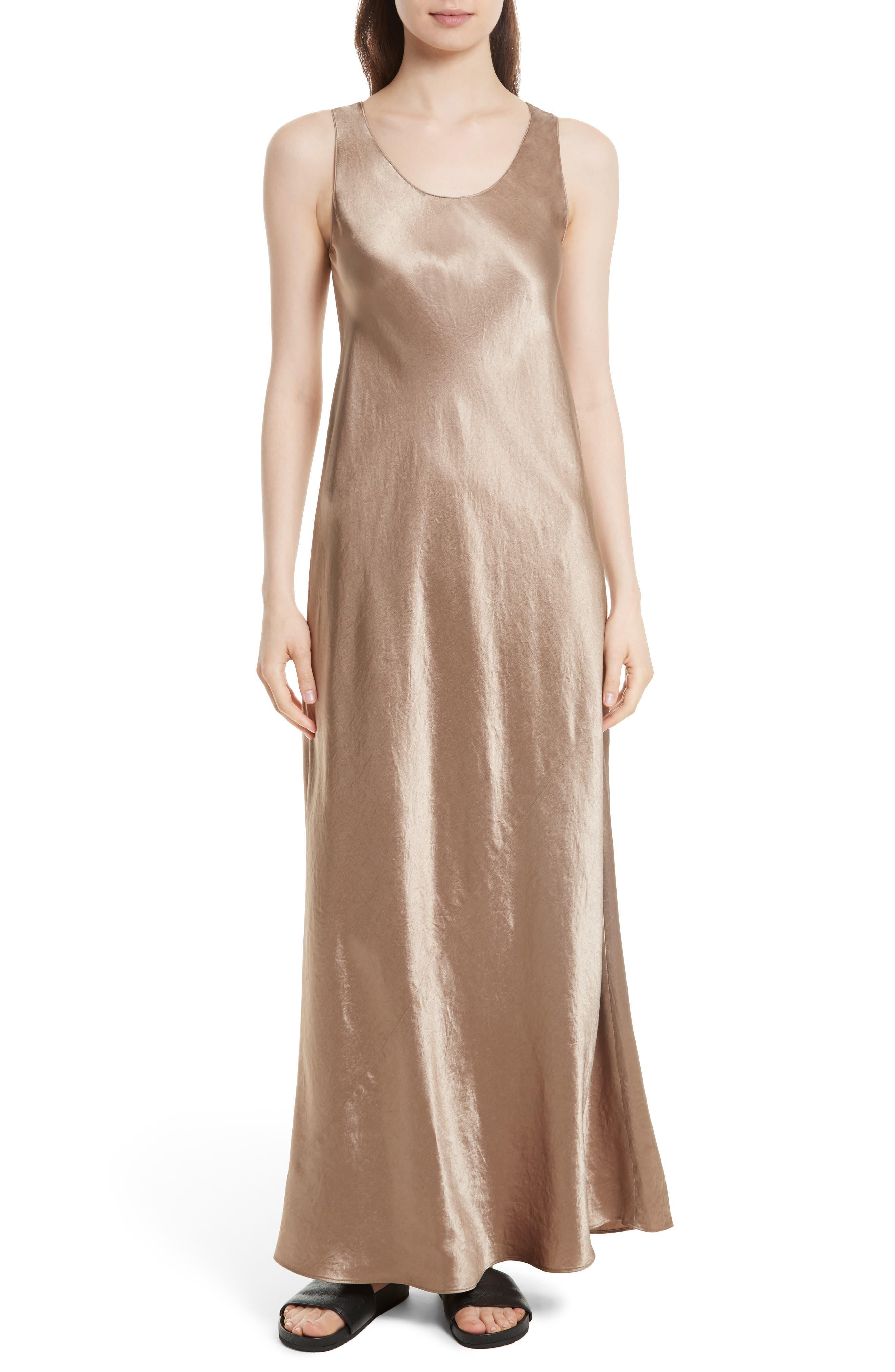 Vince Bias Satin Maxi Dress