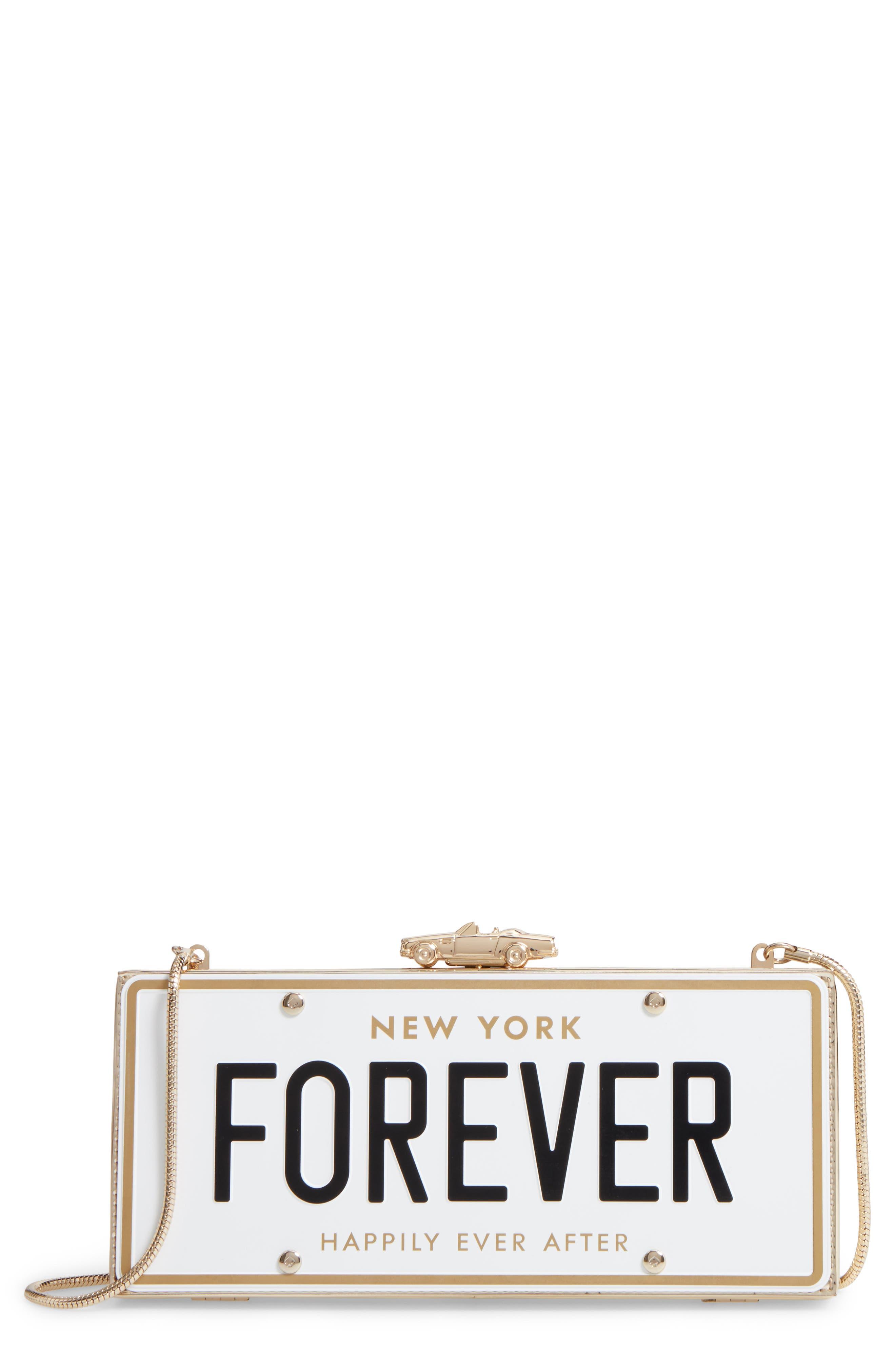kate spade new york wedding belles license plate clutch