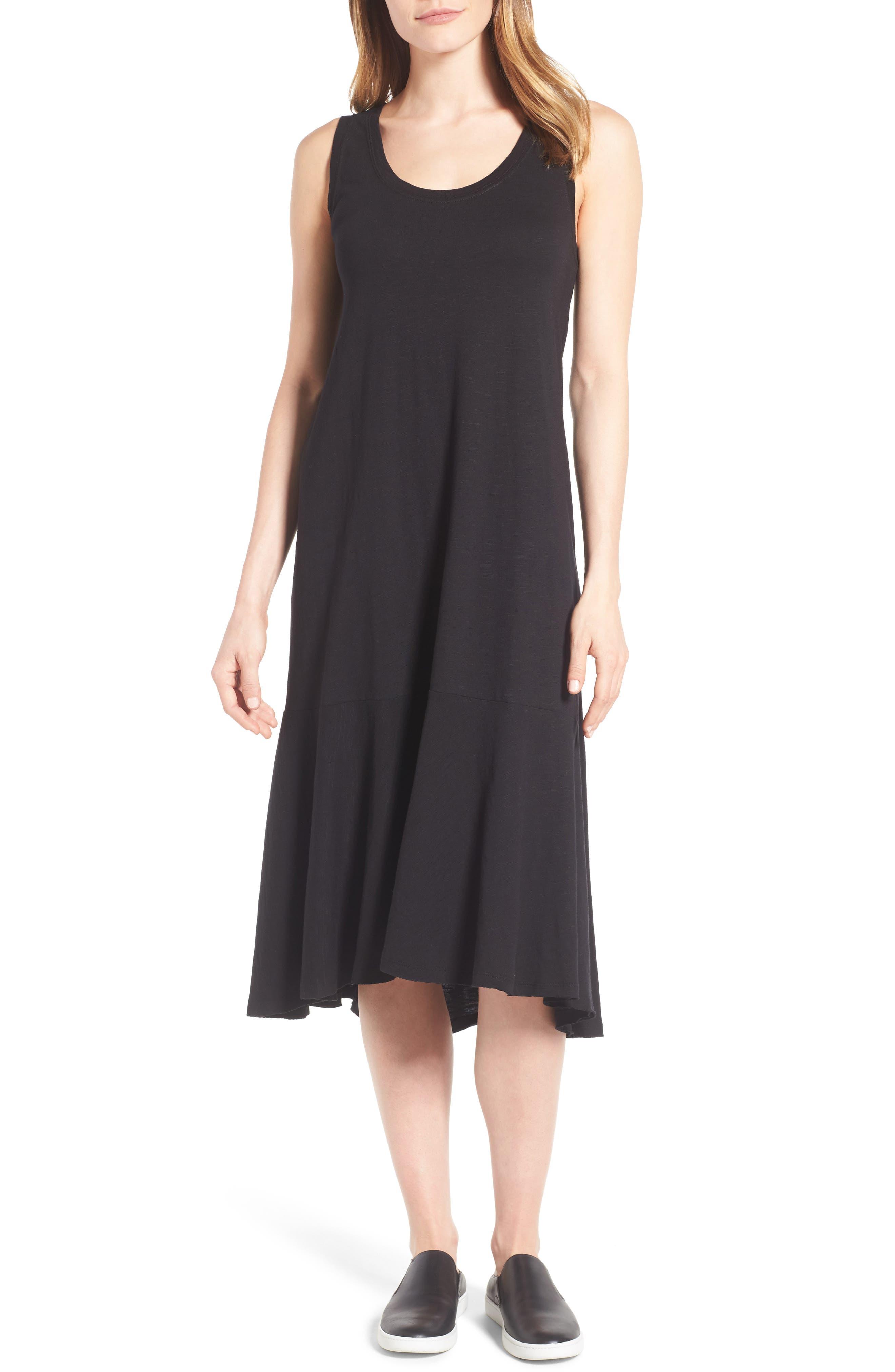 Caslon® Drop Waist Jersey Dress (Regular & Petite)