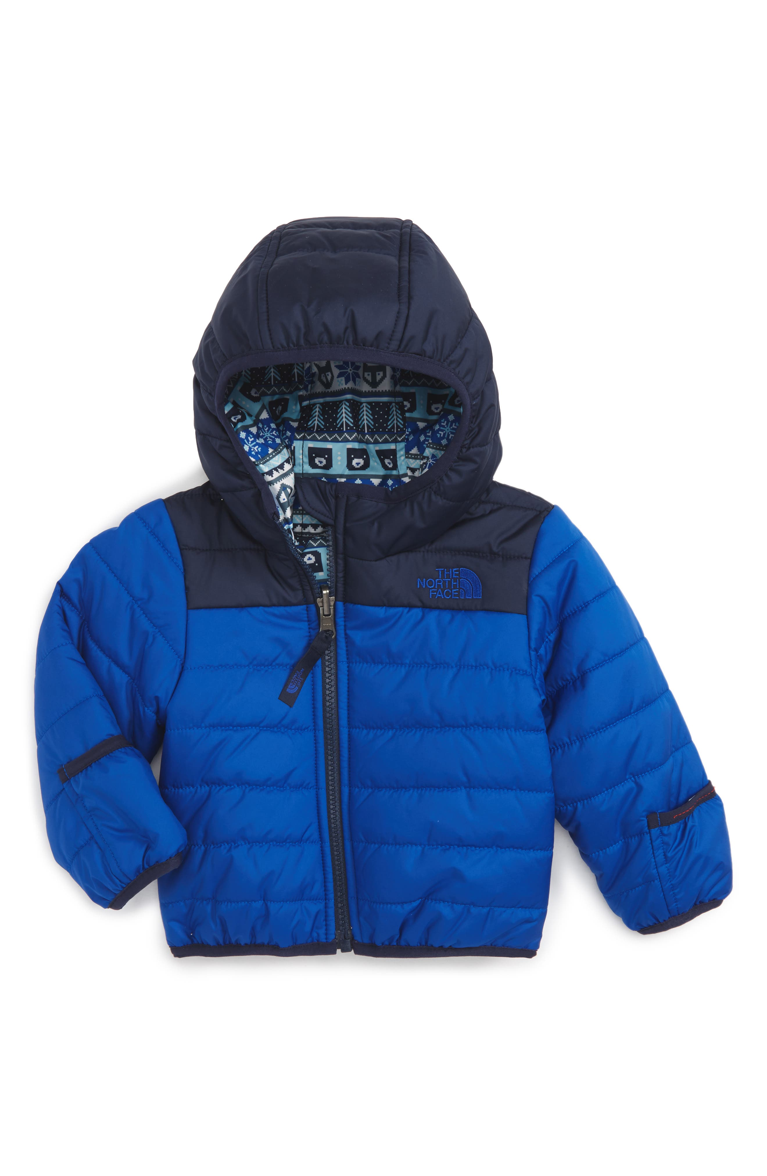 The North Face 'Perrito' Reversible Water Repellent Hooded Jacket (Baby Boys)
