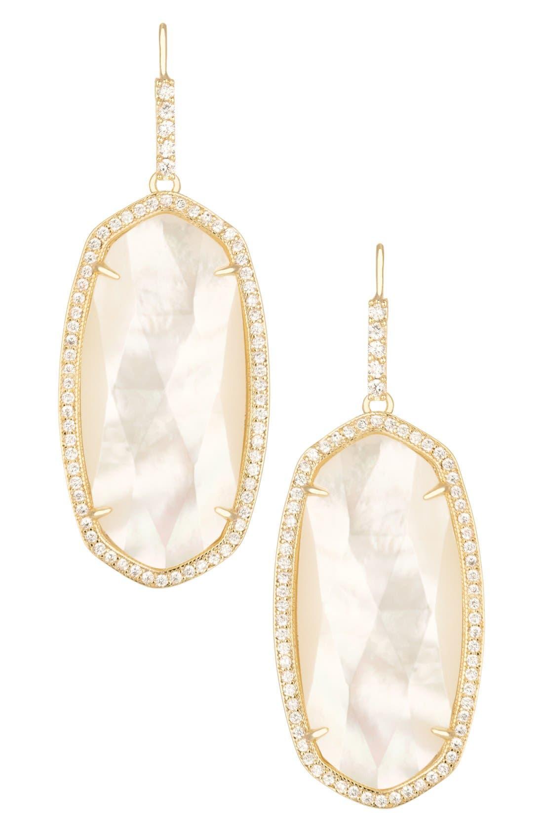 Main Image - Kendra Scott 'Ellen' Drusy Drop Earrings