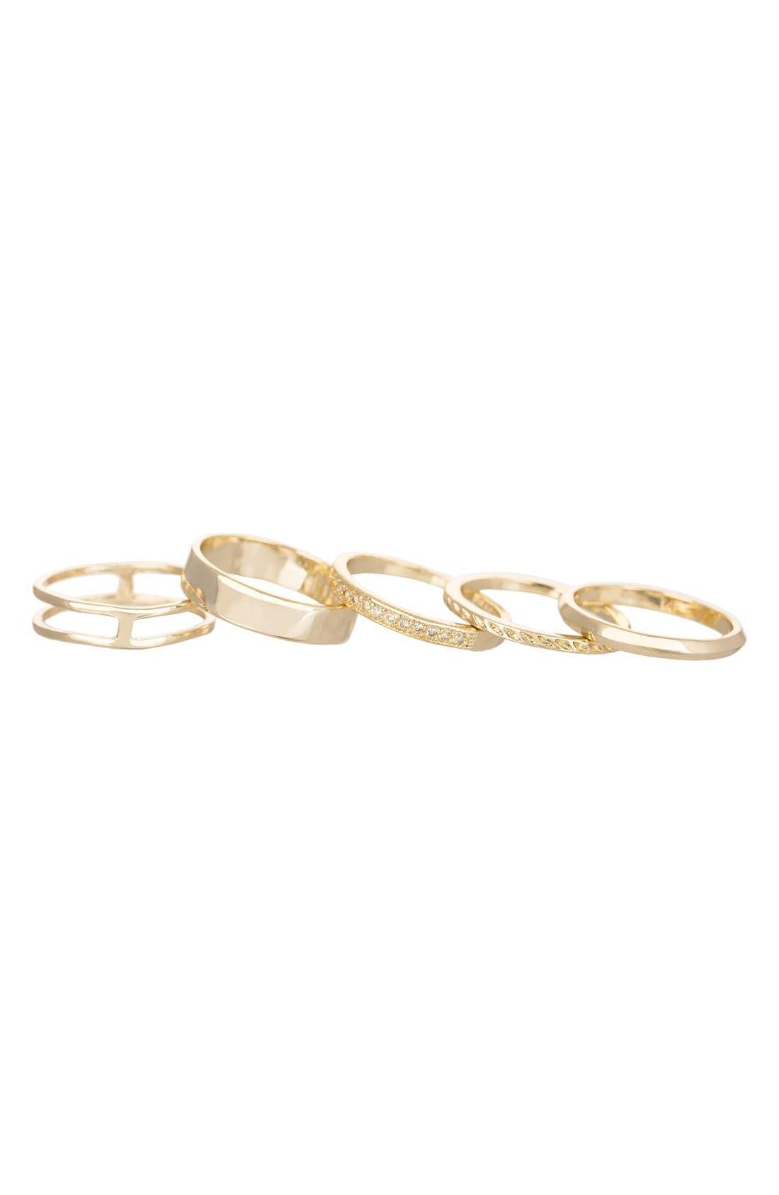 Main Image - Kendra Scott 'Kara' Stackable Midi Rings (Set of 5)