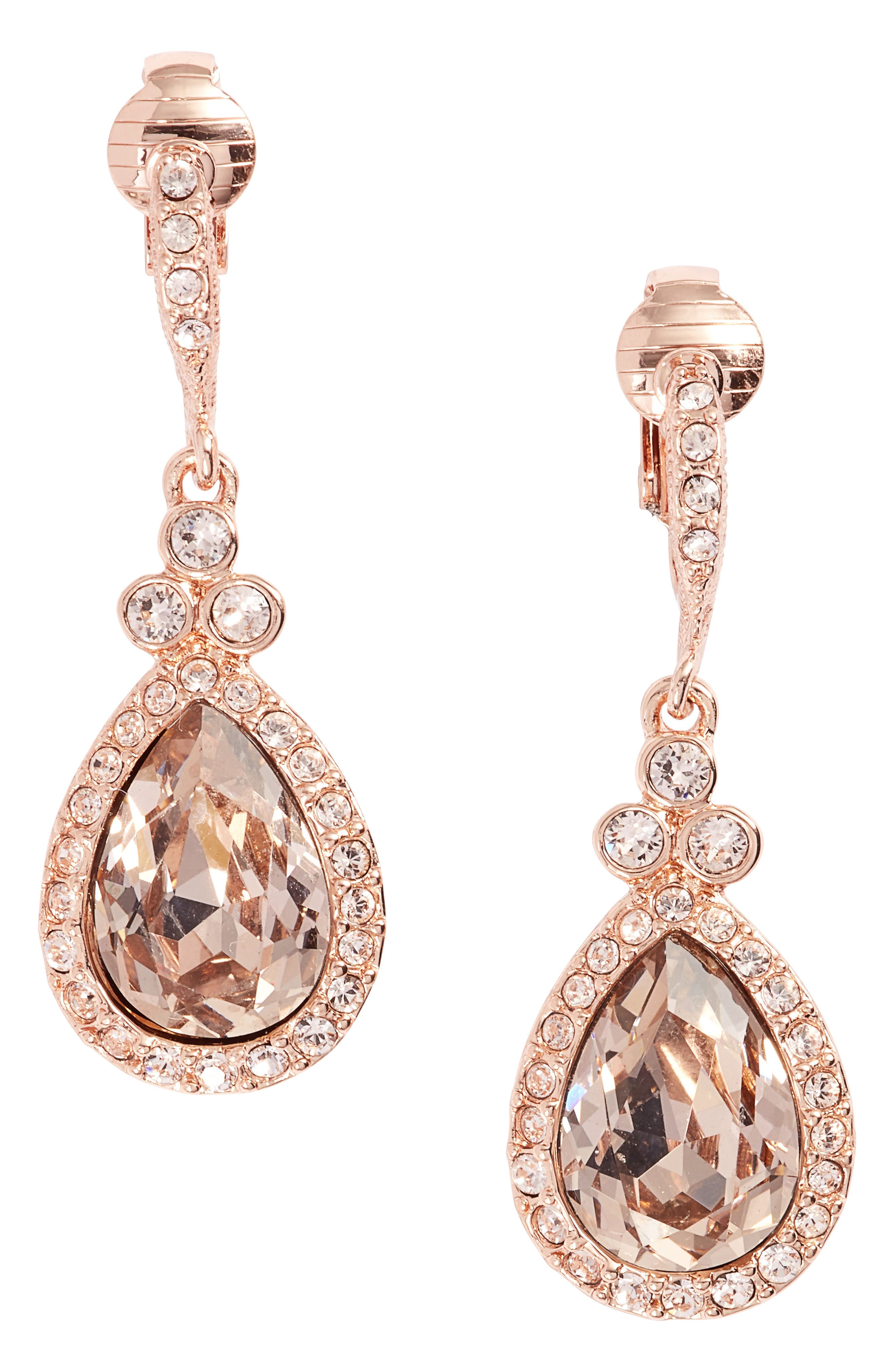 Givenchy Pear Crystal Drop Earrings
