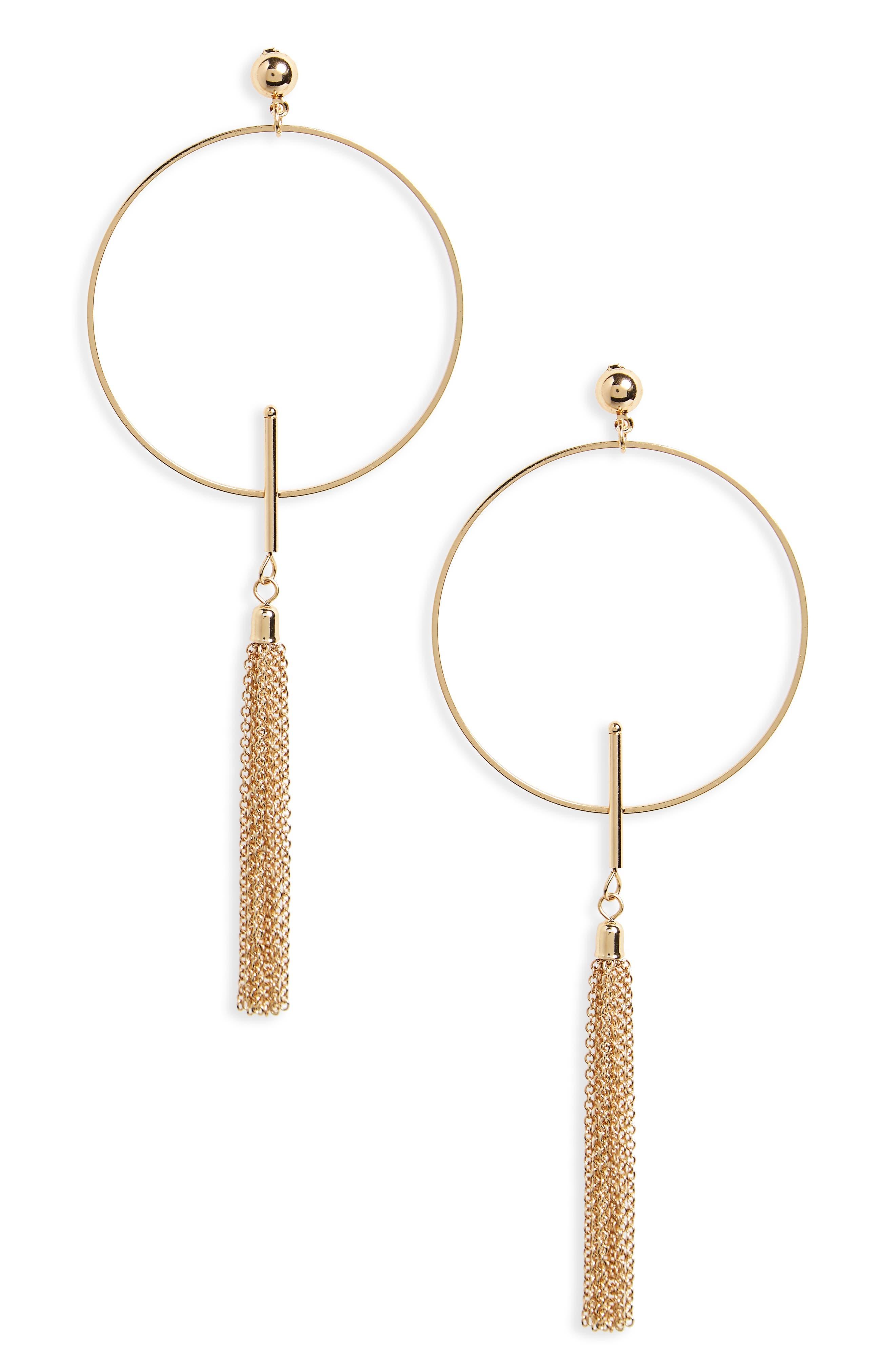 BP. Circle Tassel Earrings