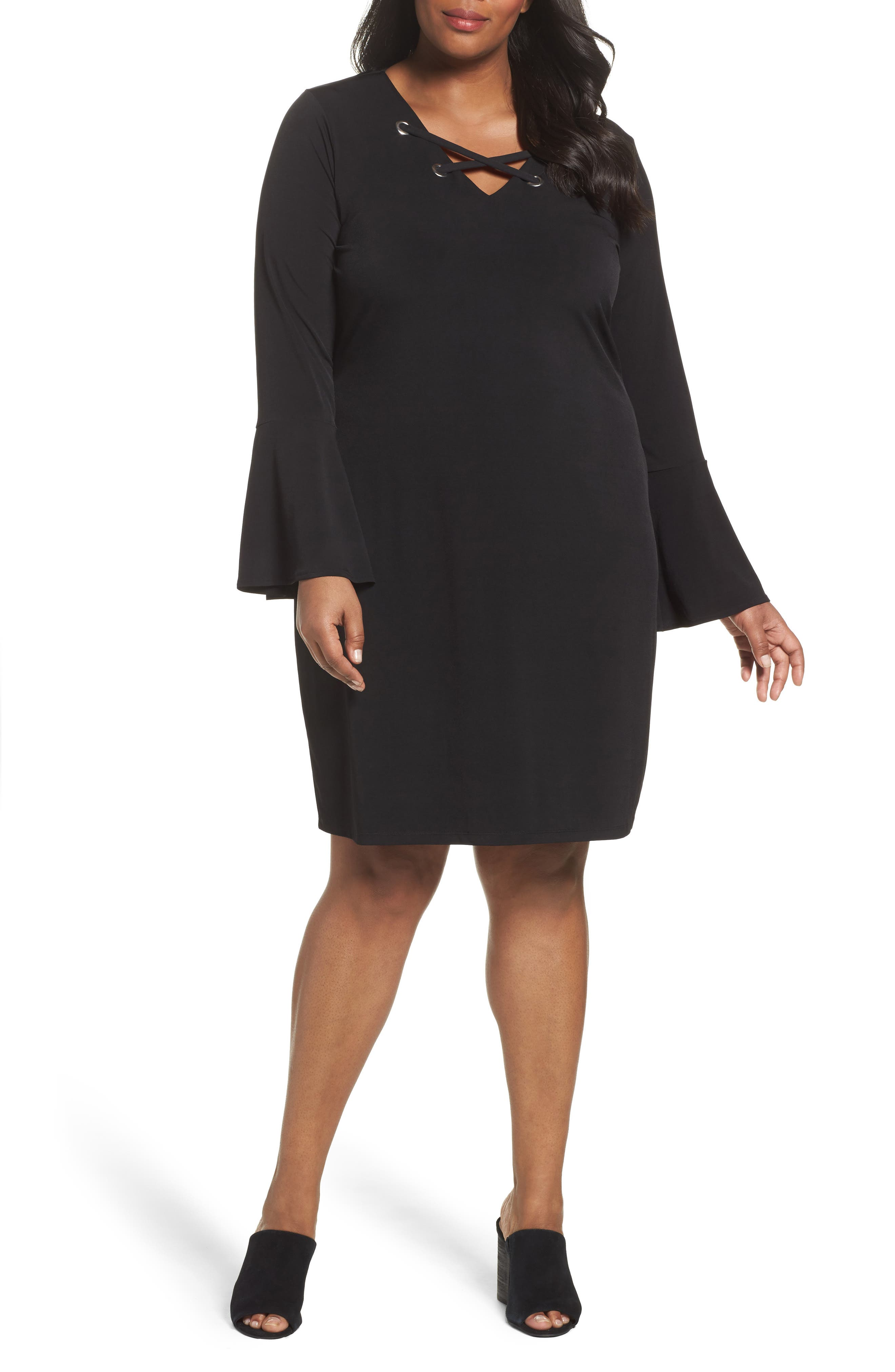 MICHAEL Michael Kors Laced Grommet Stretch Dress (Plus Size)