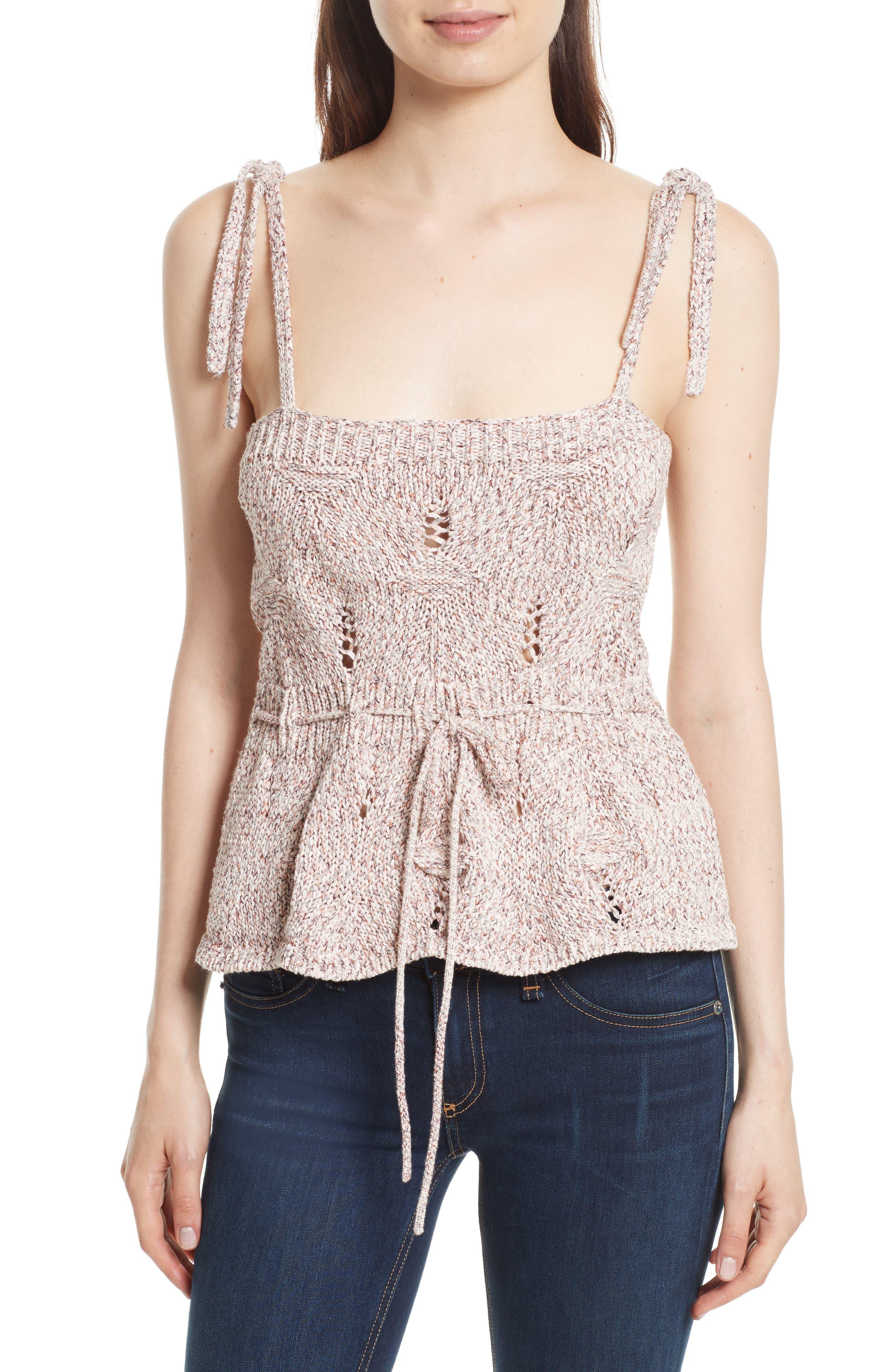 La Vie Rebecca Taylor Summer Ribbon Knit Tank