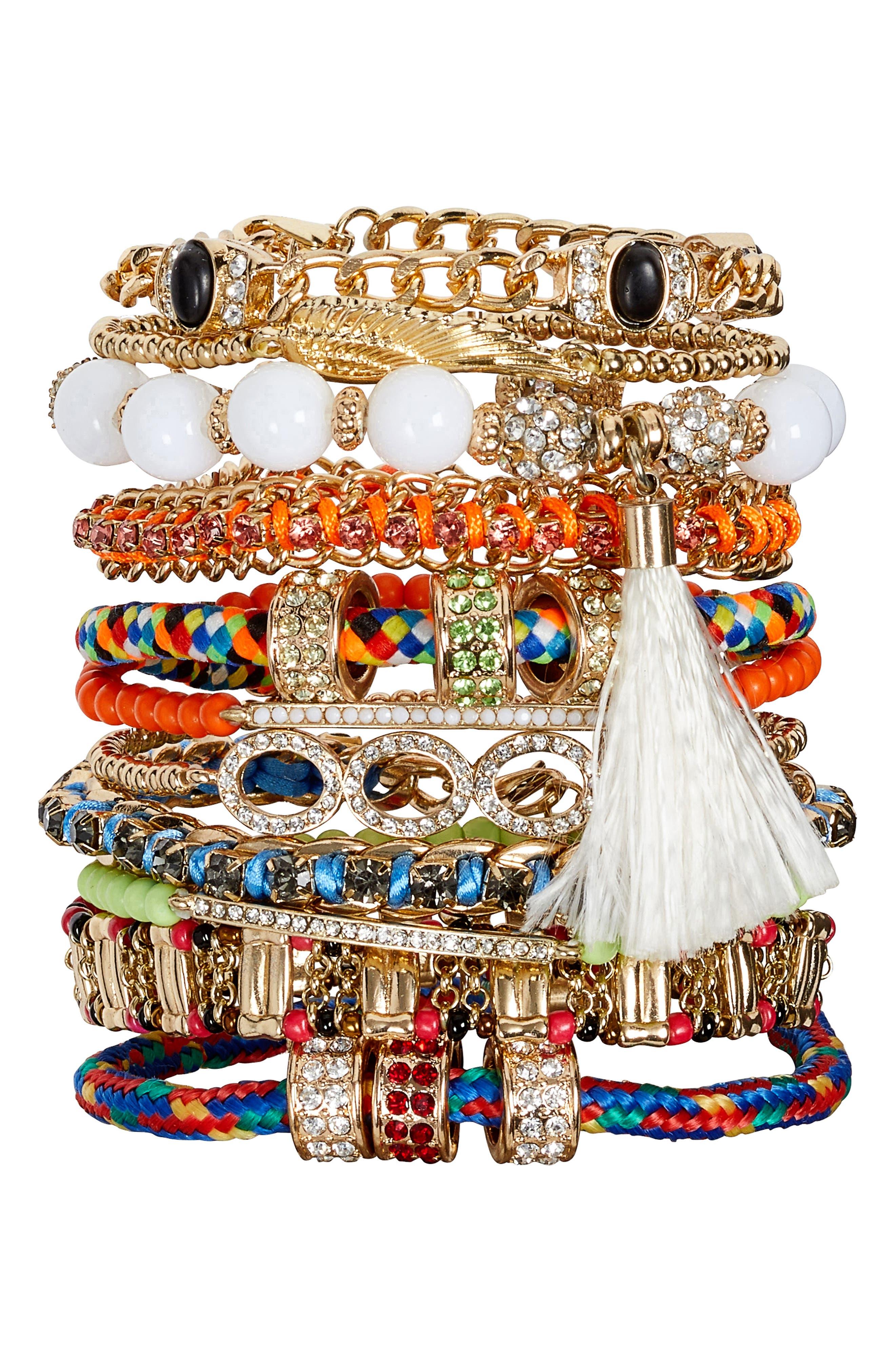 Adia Kibur Set of 11 Bracelets