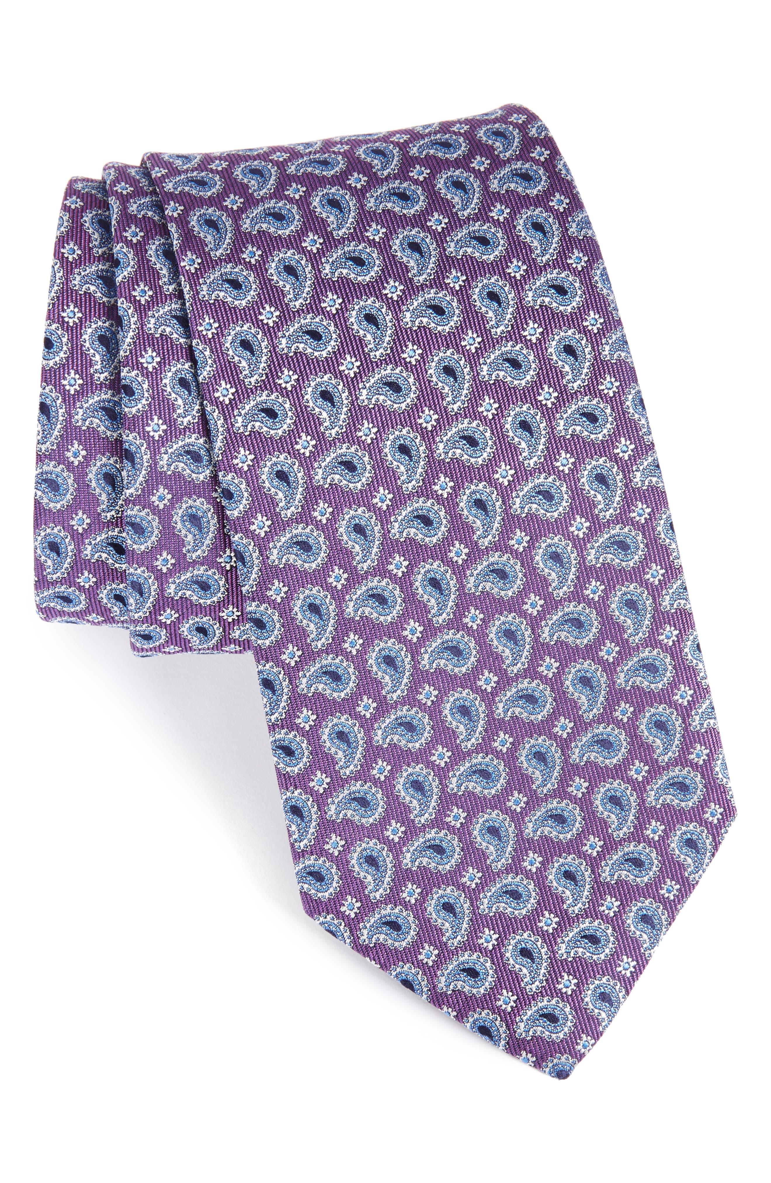 Eton Paisley Petal Silk Tie