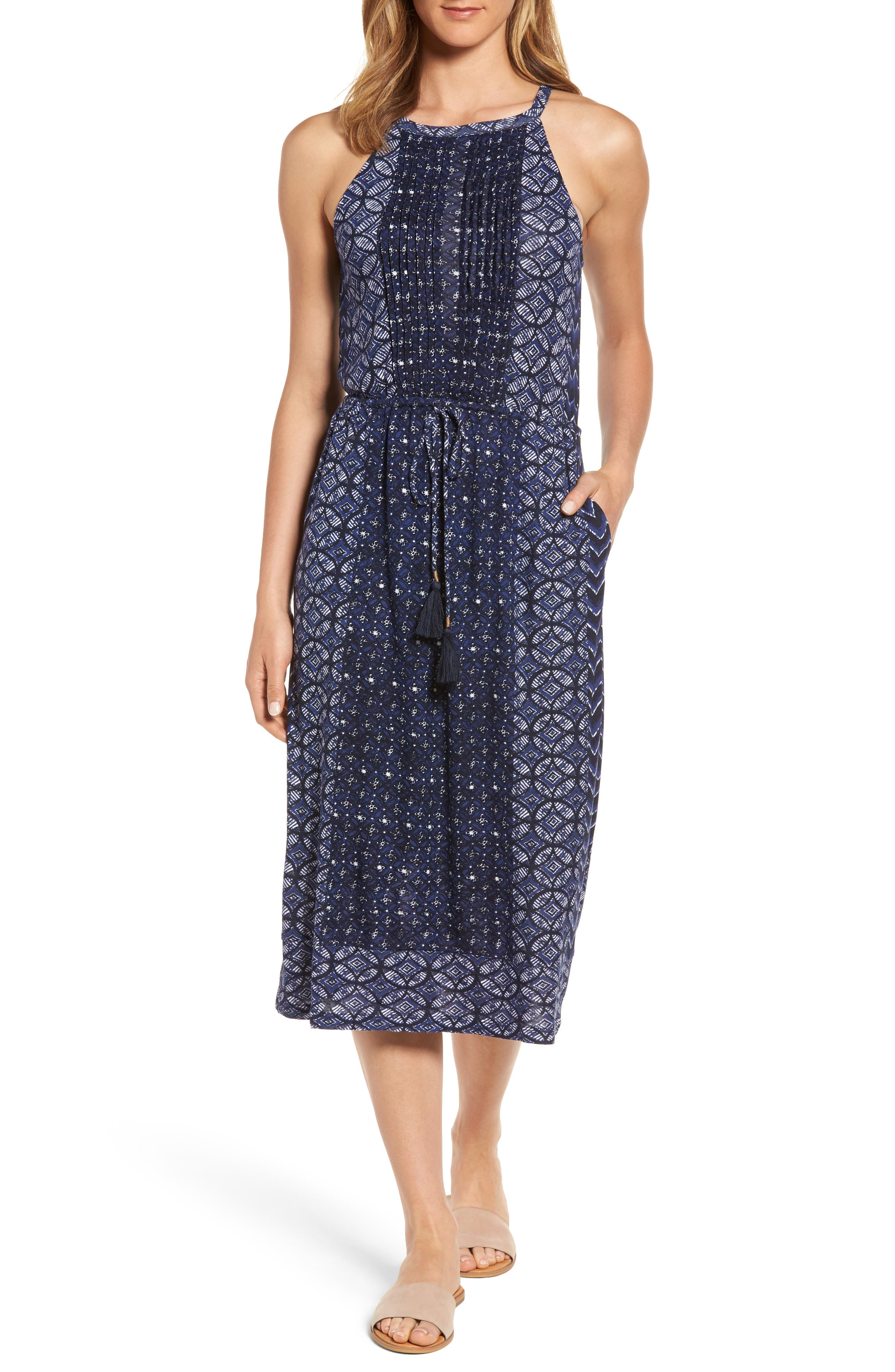 Lucky Brand Printed Knit Dress