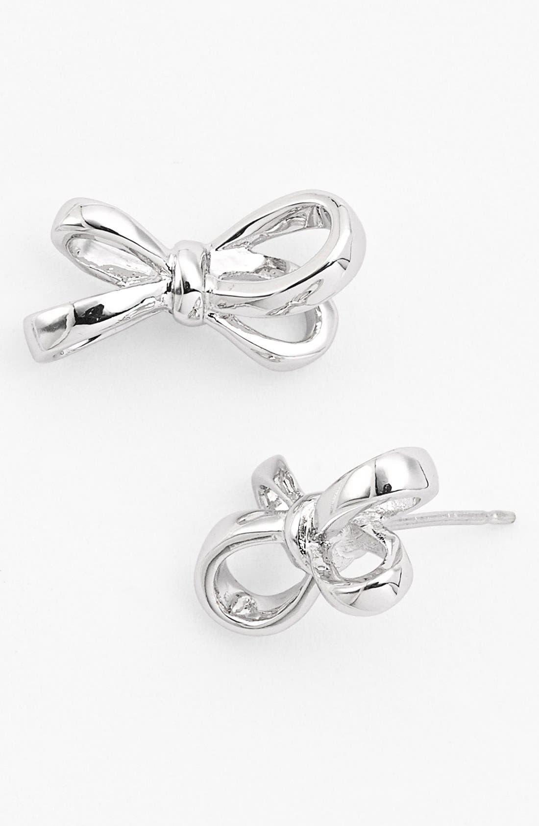 Alternate Image 1 Selected - kate spade new york 'tied up' bow stud earrings