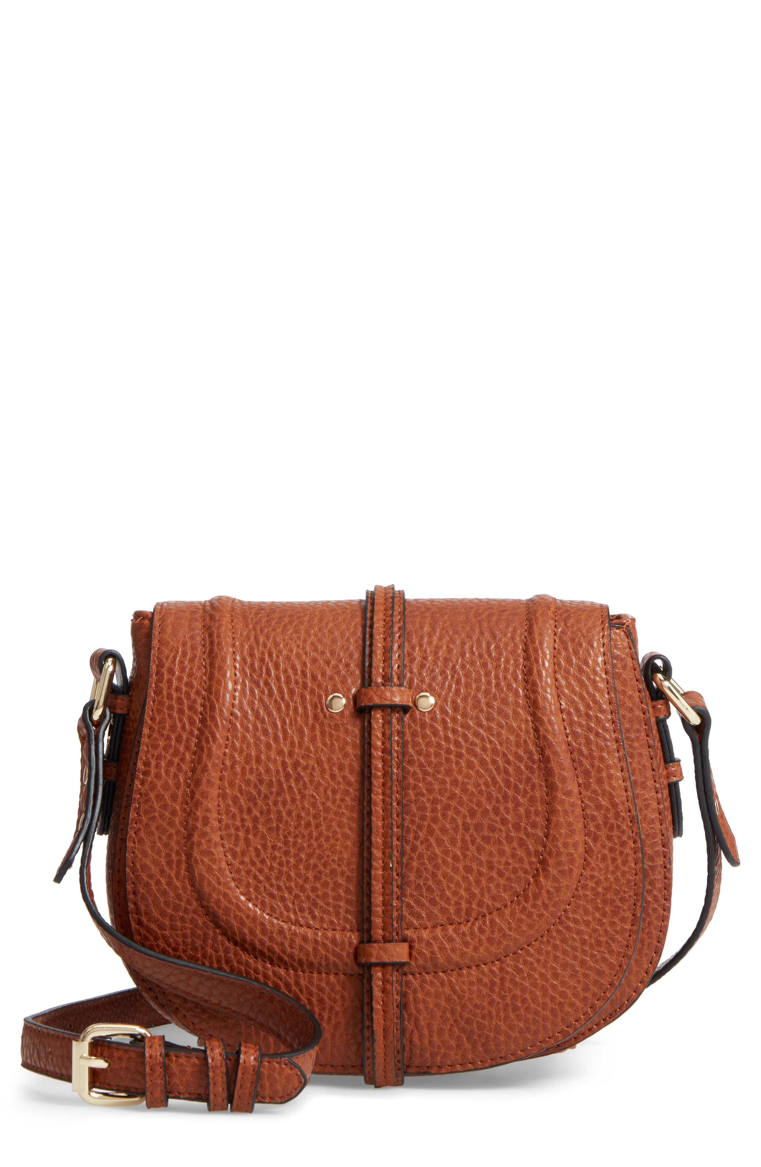 Linea Pelle Classic Faux Leather Saddle Bag