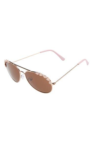 Capelli of New York Flower Aviator Sunglasses (Girls)