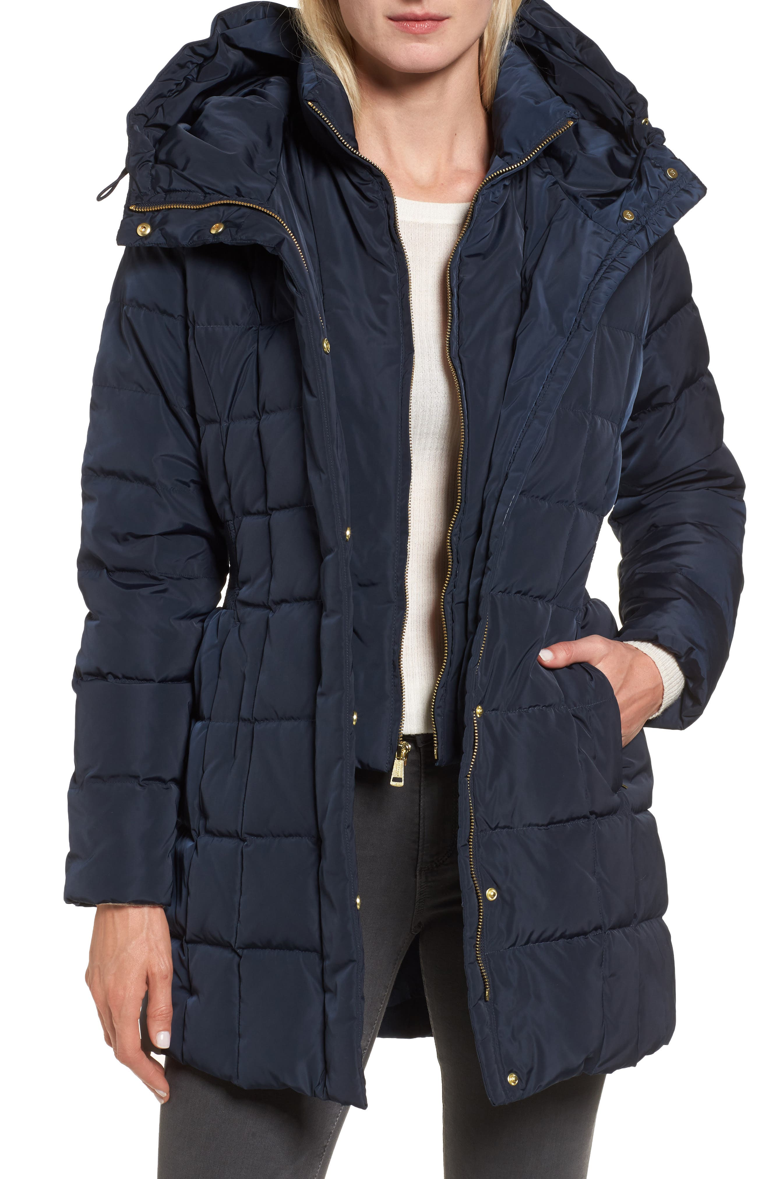 Cole Haan Hooded Down & Feather Jacket
