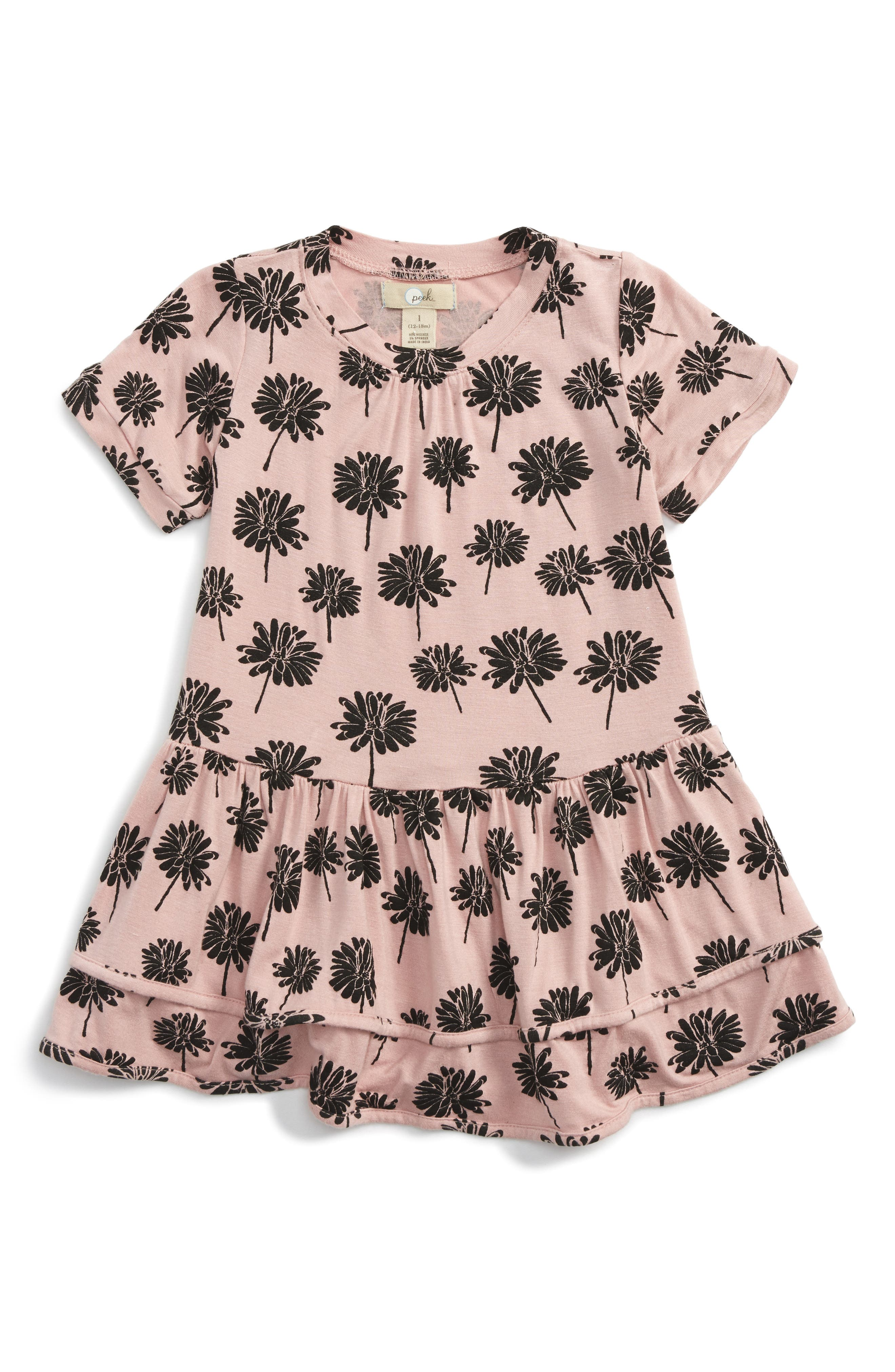 Peek Sam Floral Print Dress (Baby Girls)